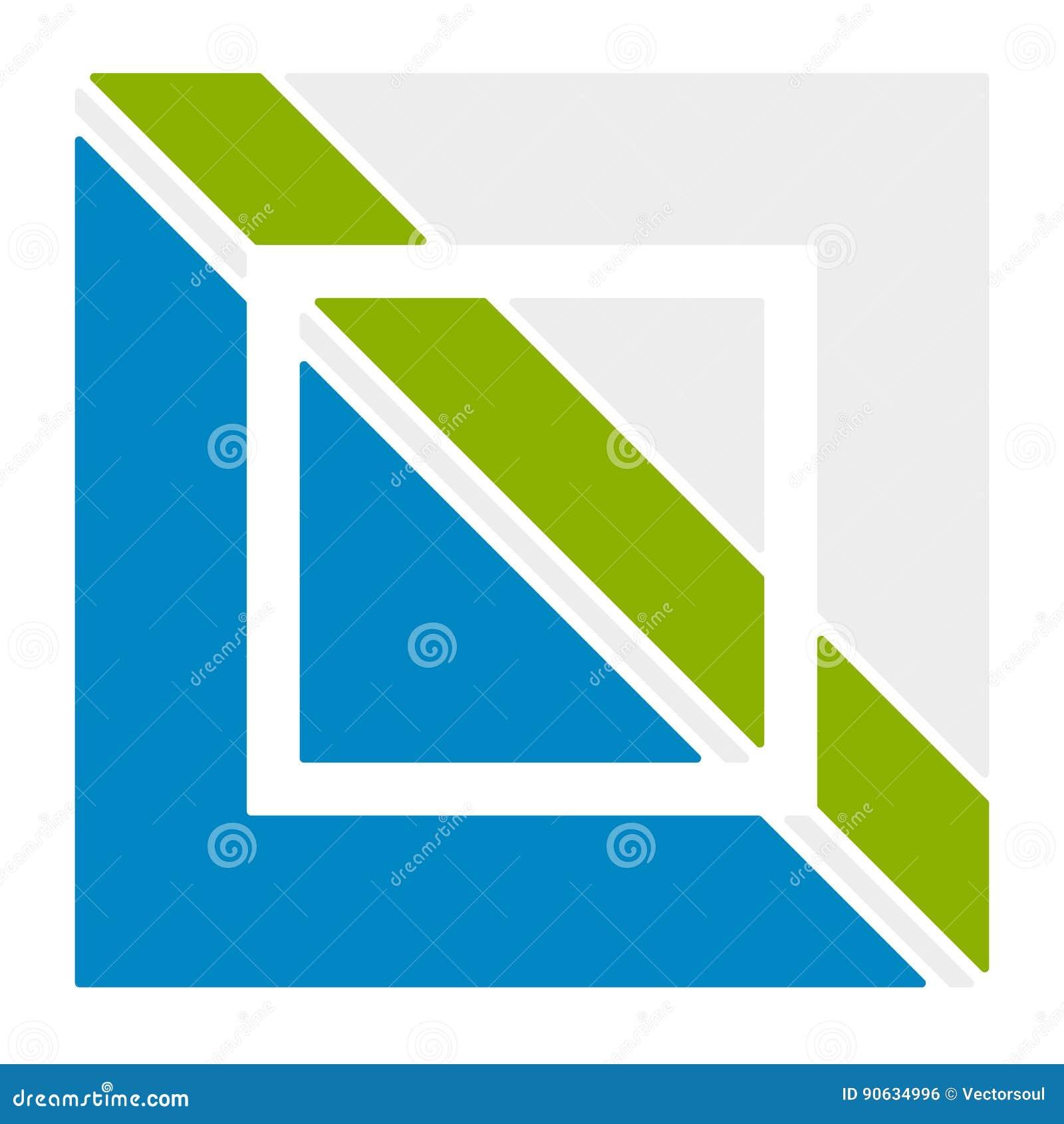 Шаблон логотипа с блокировать, разделенный квадрат Абстрактное geomet