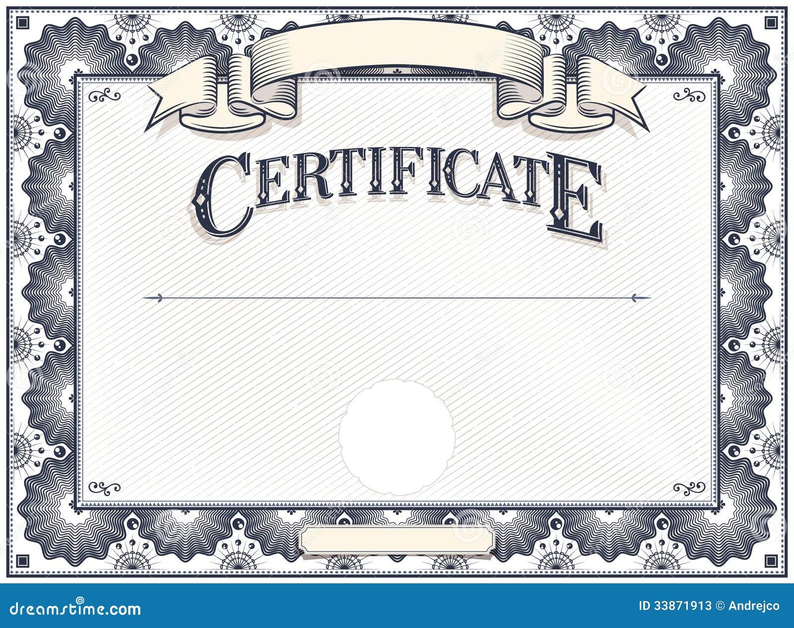 Шаблон сертификата или диплома Иллюстрация вектора изображение  Шаблон сертификата или диплома