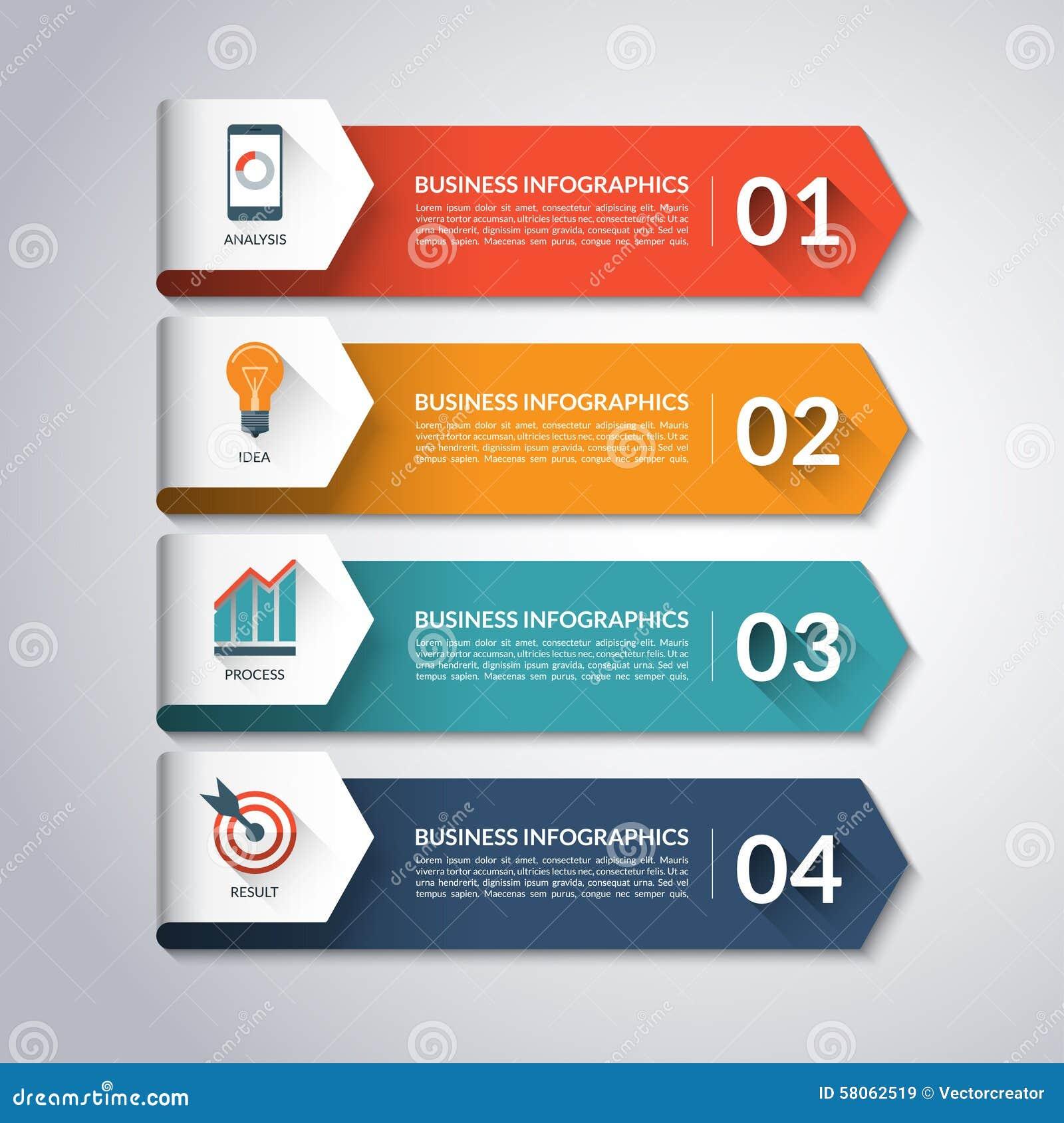 Шаблон Infographic стрелки Предпосылка вектора