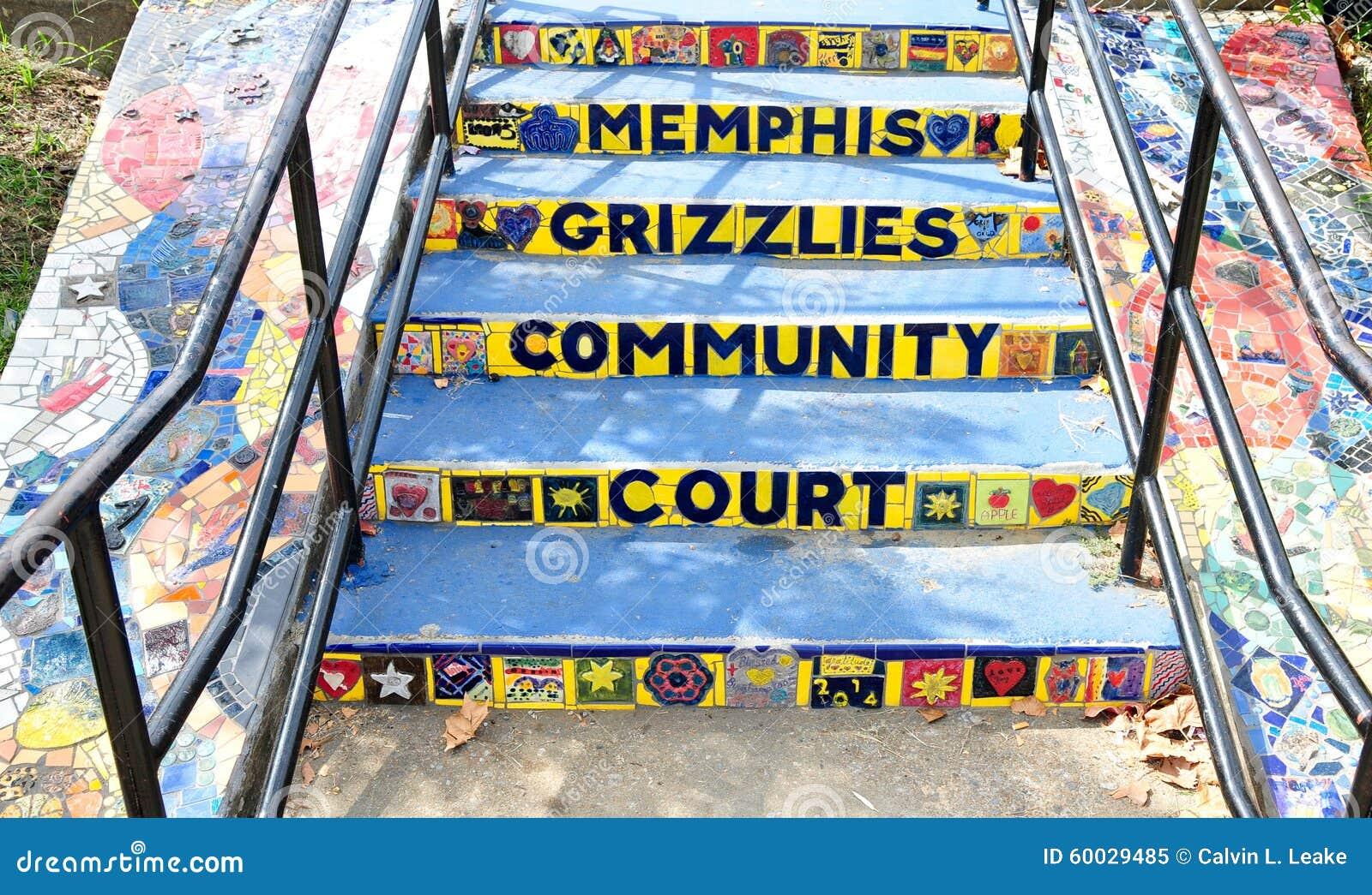 Шаги на суд общины гризли Мемфиса, Мемфис, Теннесси