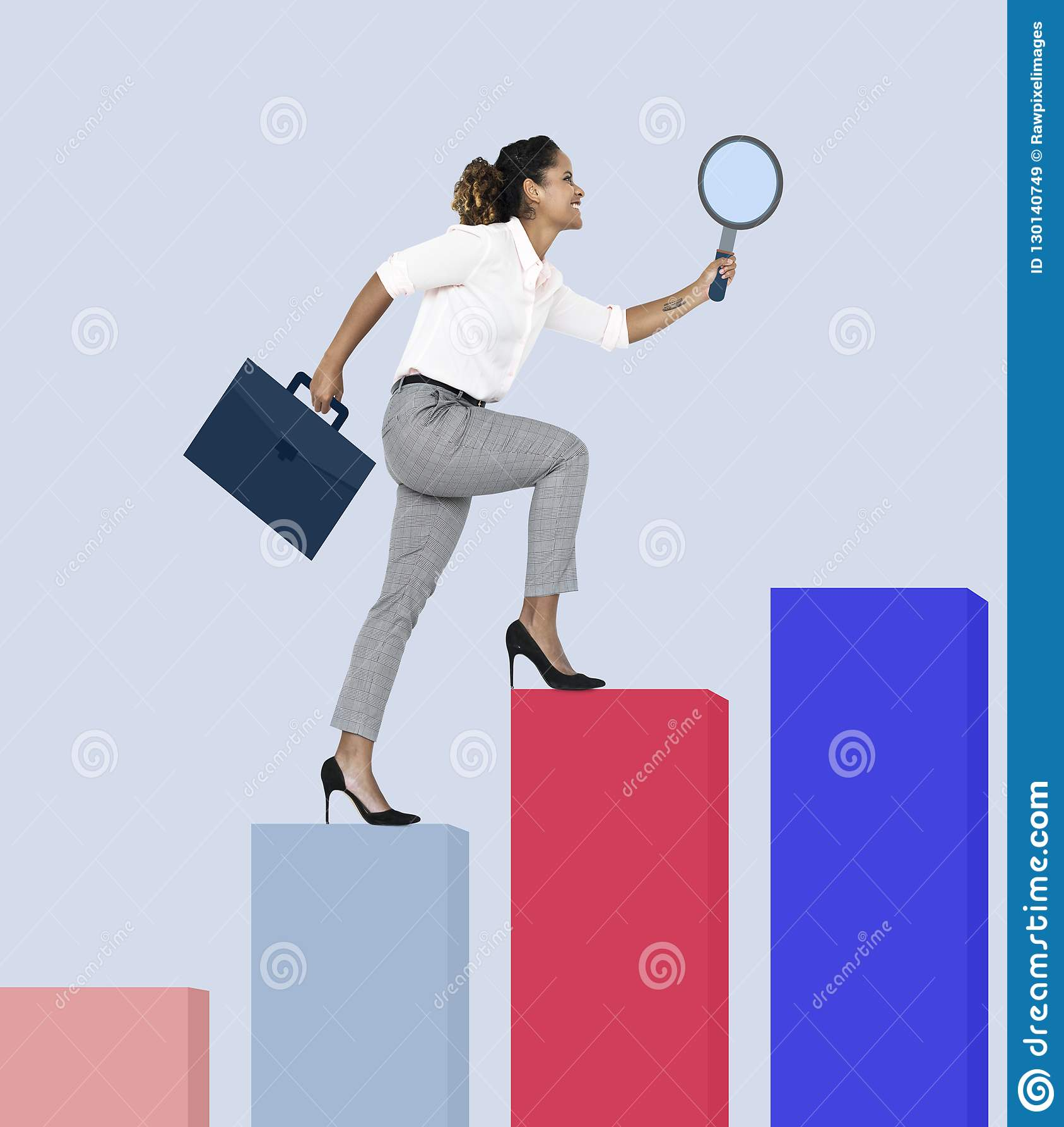 Шаг бизнес-леди до достижения
