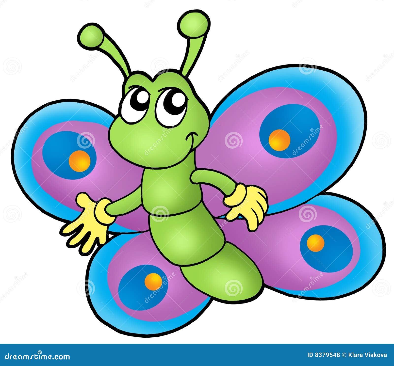 шарж бабочки малый