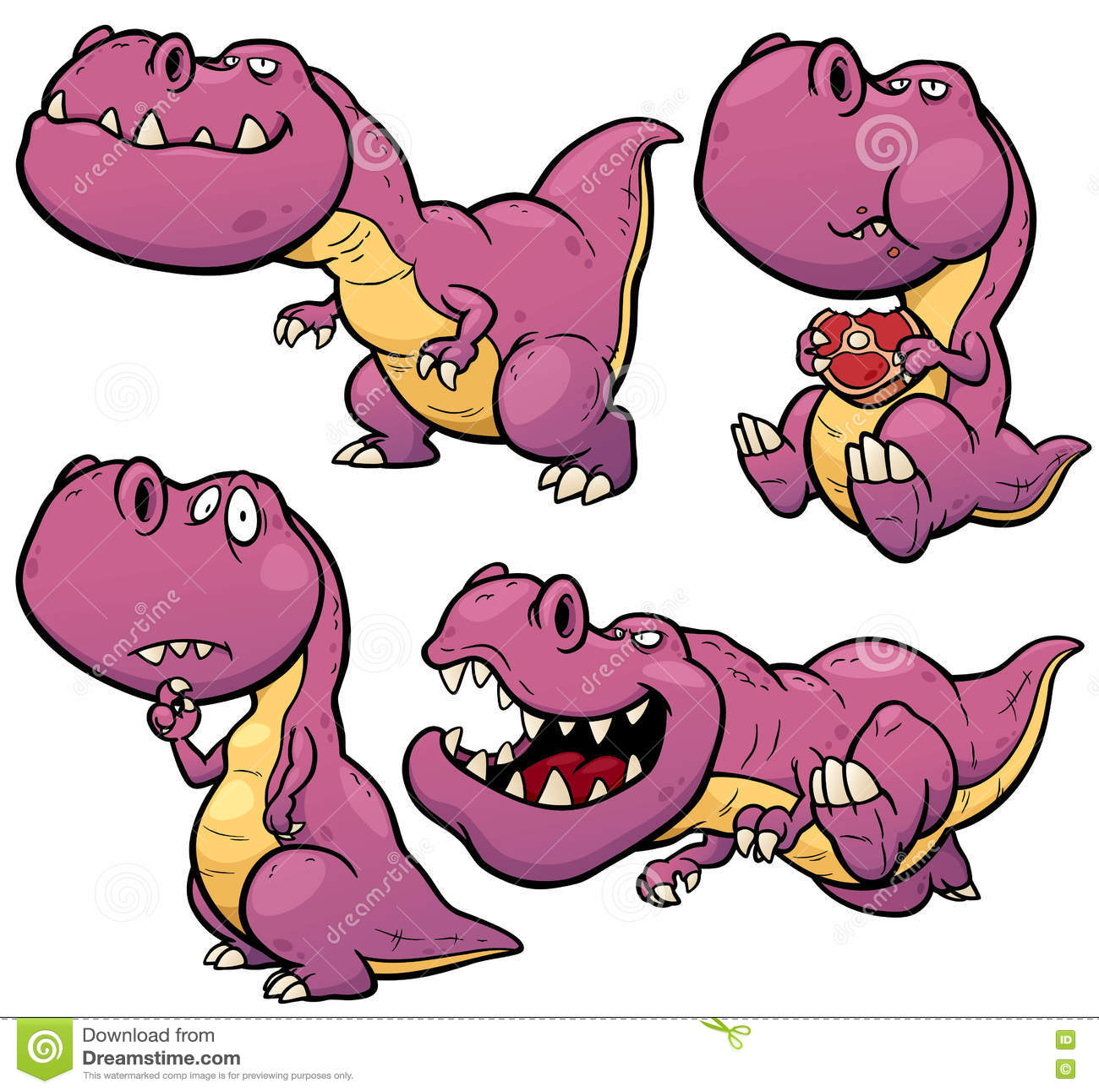 Шарж динозавра