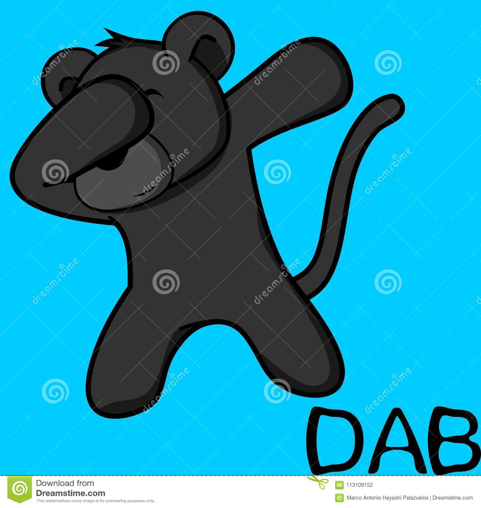 Шарж ребенк пантеры представления лиманды dabbing