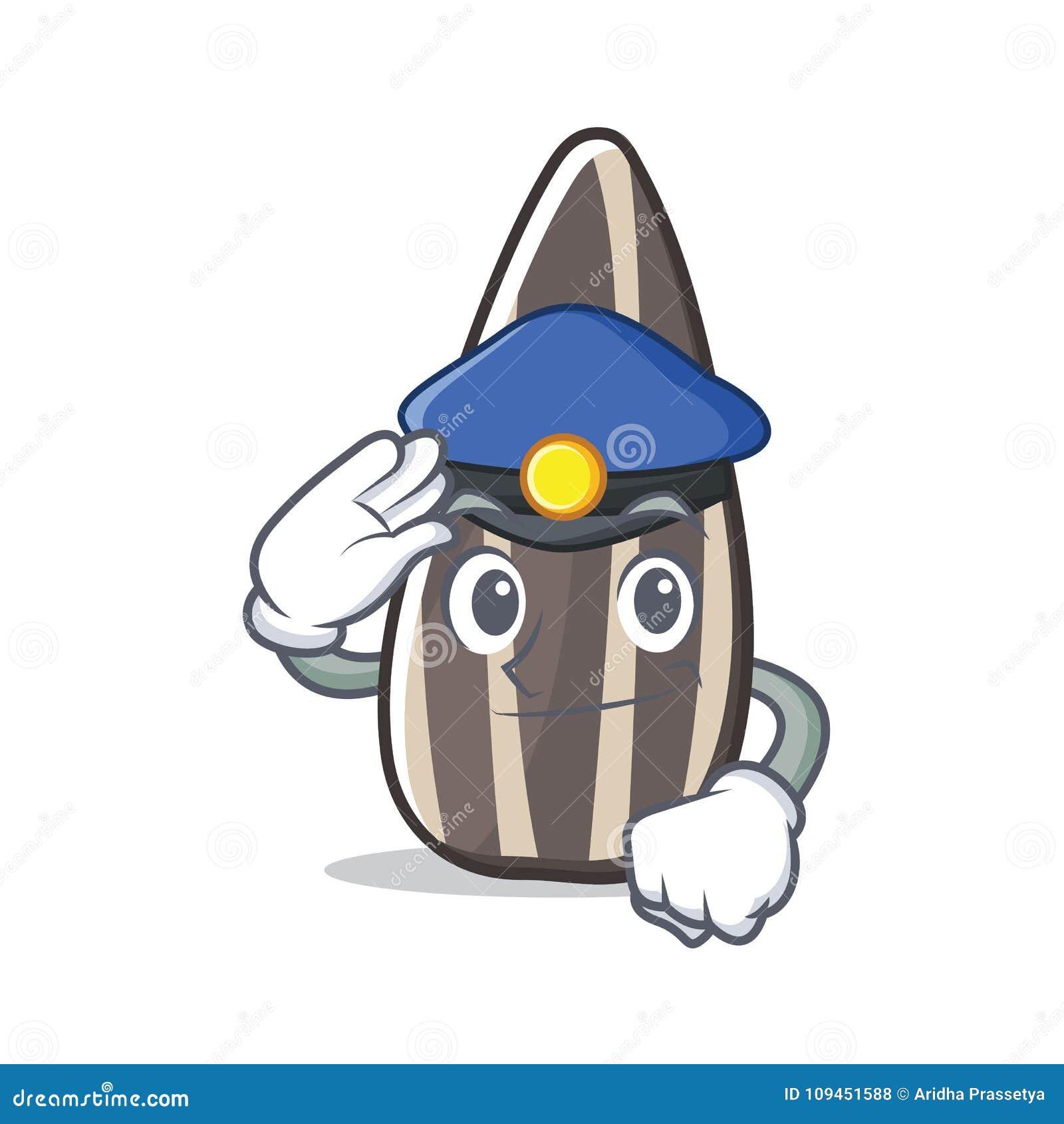 Шарж характера семян подсолнуха полиции