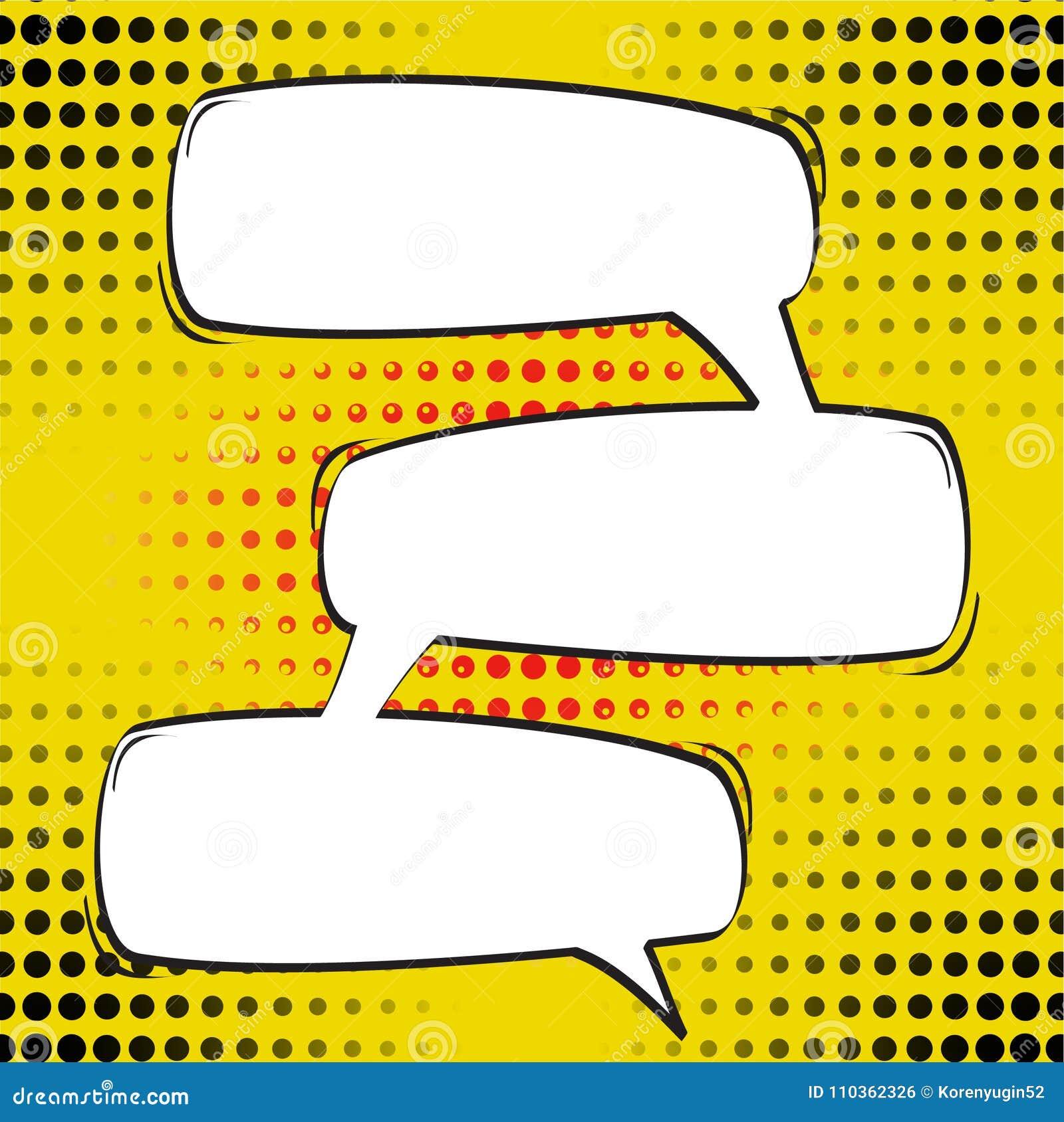 Шарж, шуточные пузыри речи, пустые облака диалога с полутоновым изображением
