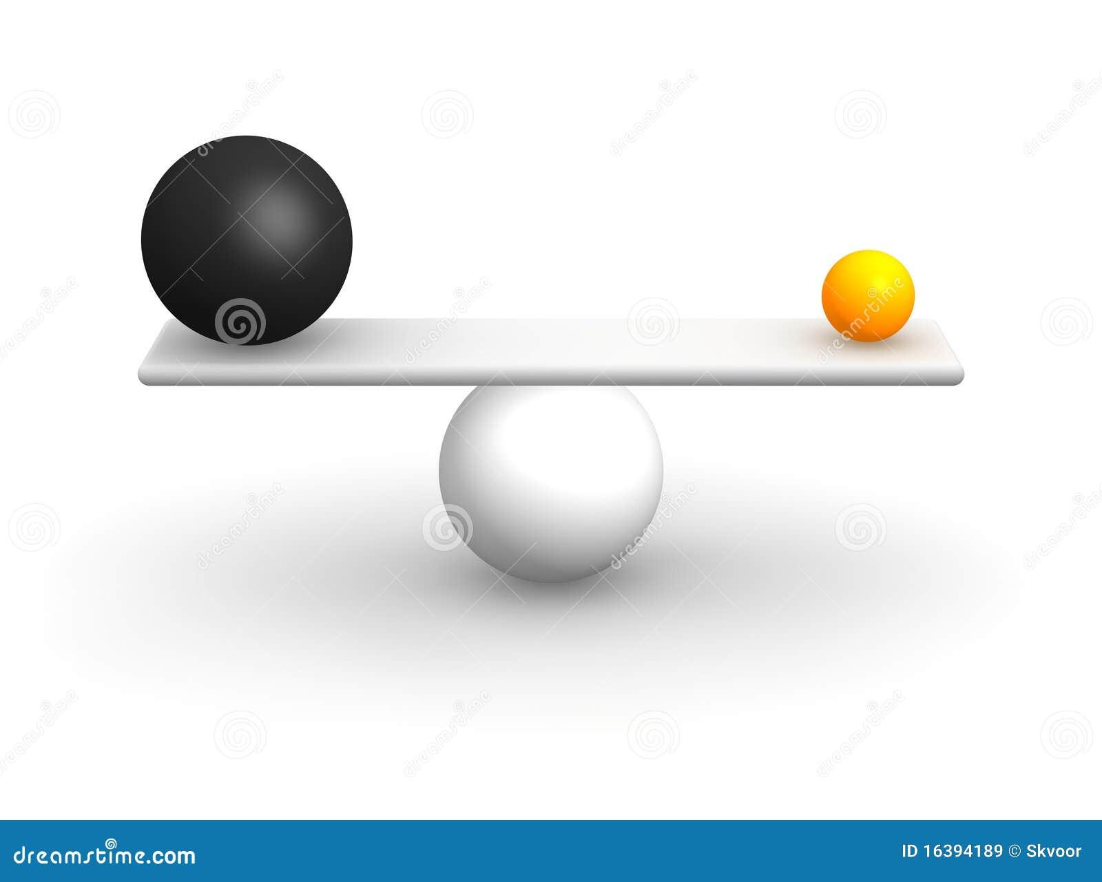 шарики баланса неровные