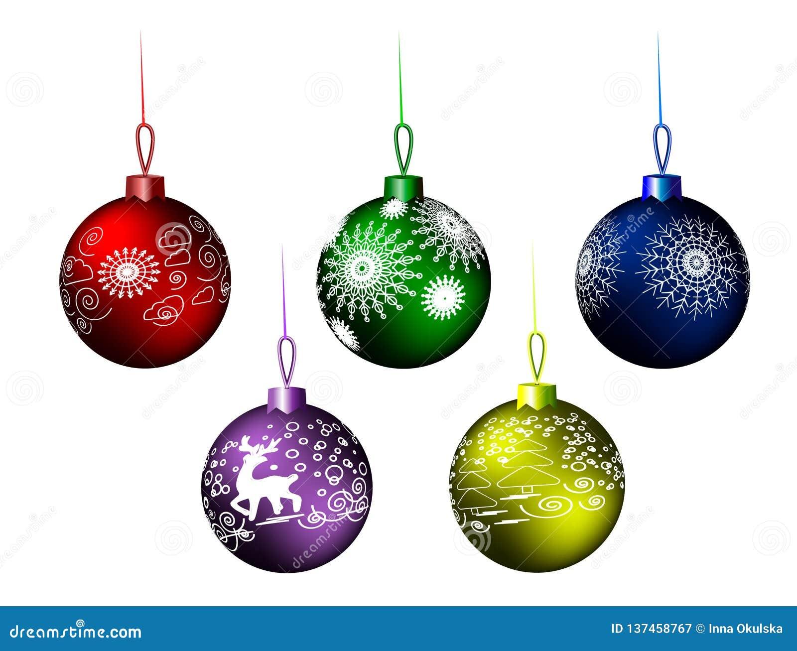 Шарики рождества; Предпосылка; рождество, сфера, новая, зима, лоснистый, вися, иллюстрация, красный цвет, Новые Годы кануна, мета
