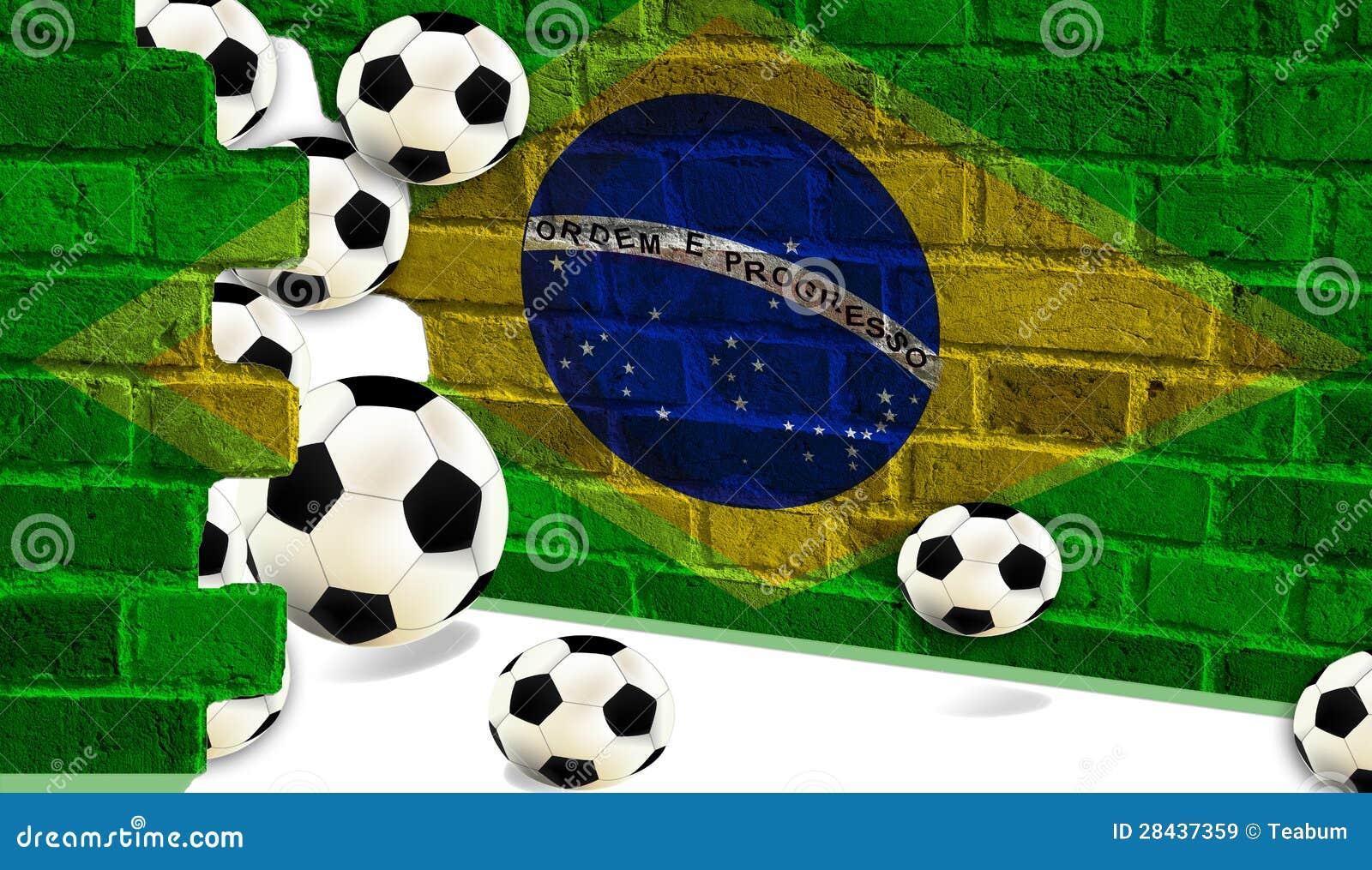 Шарики футбола, флаг Бразилии