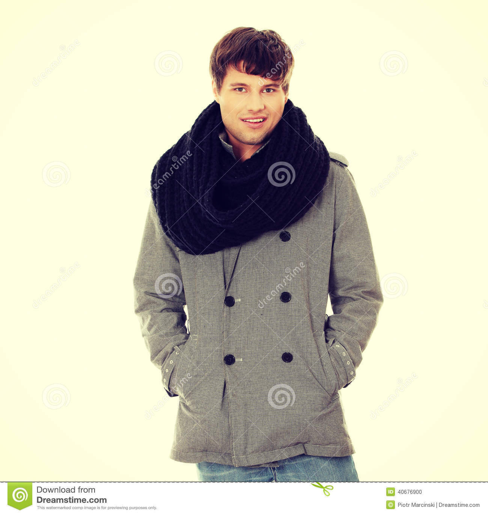 шарф человека пальто красивый