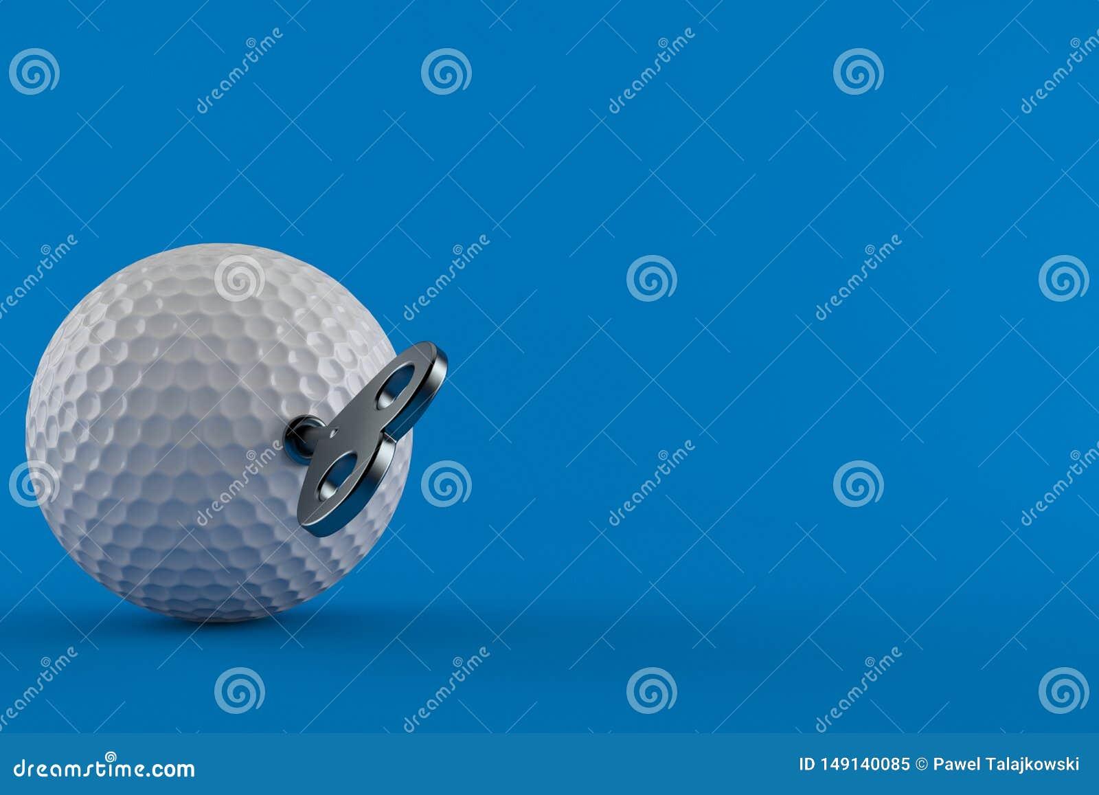 Шар для игры в гольф с ключом clockwork