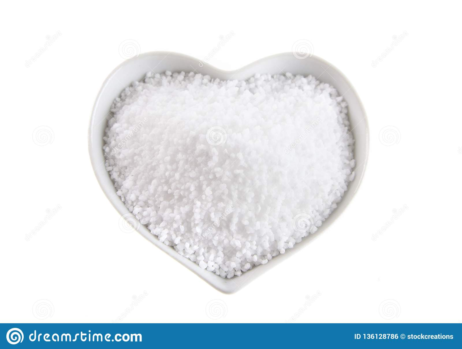 Шар сердца форменный соли fleur de sel