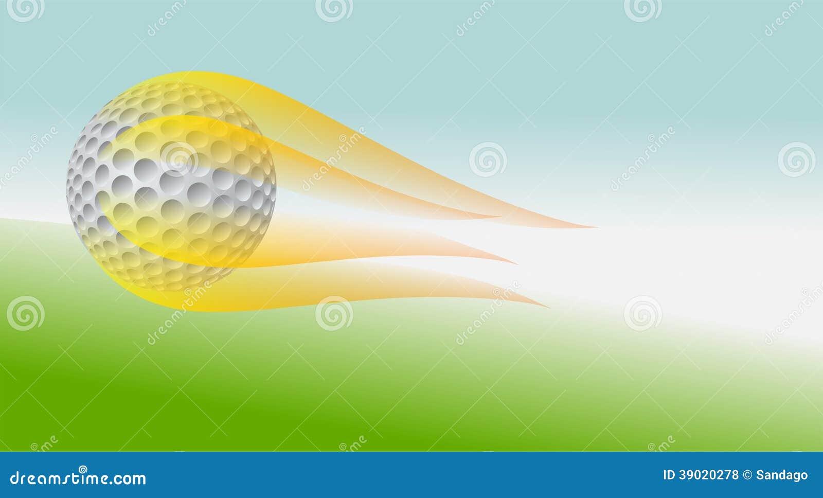 Шар для игры в гольф на огне