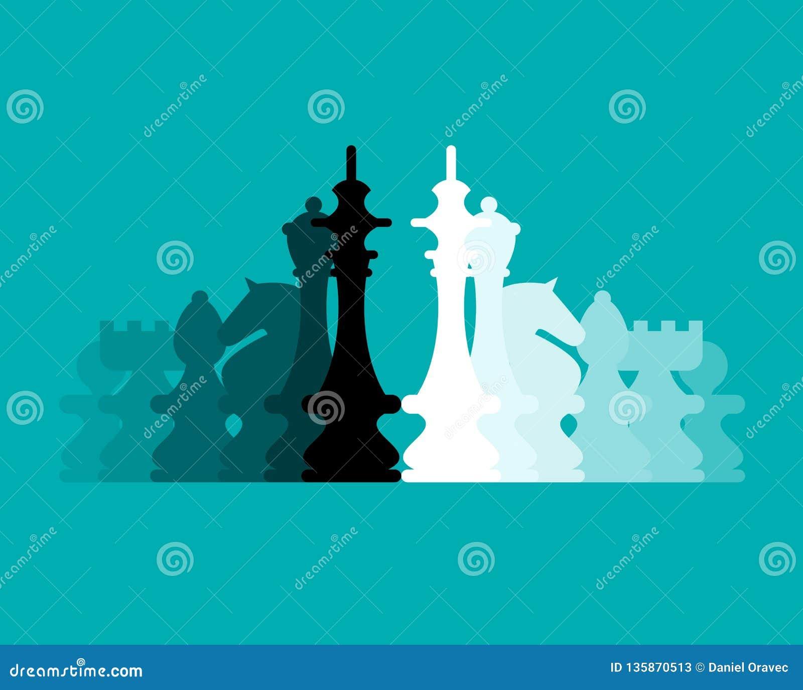 Шахматные фигуры плоско конструируют предпосылку