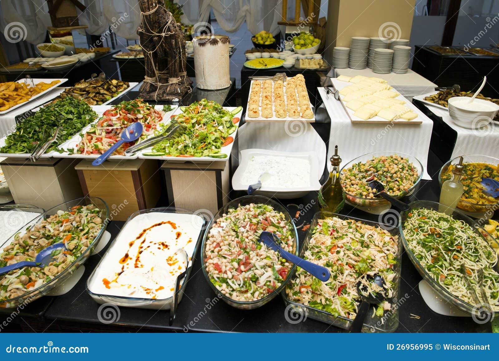 Шведский стол еды