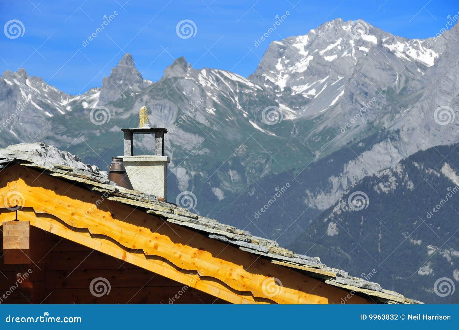 швейцарец крыши chalet alps