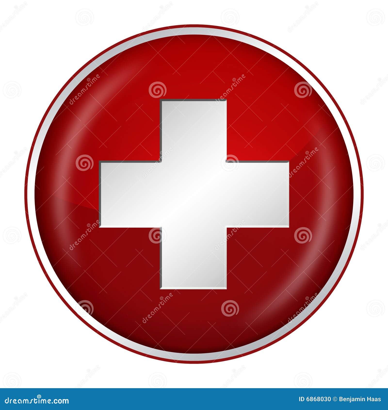швейцарец флага кнопки