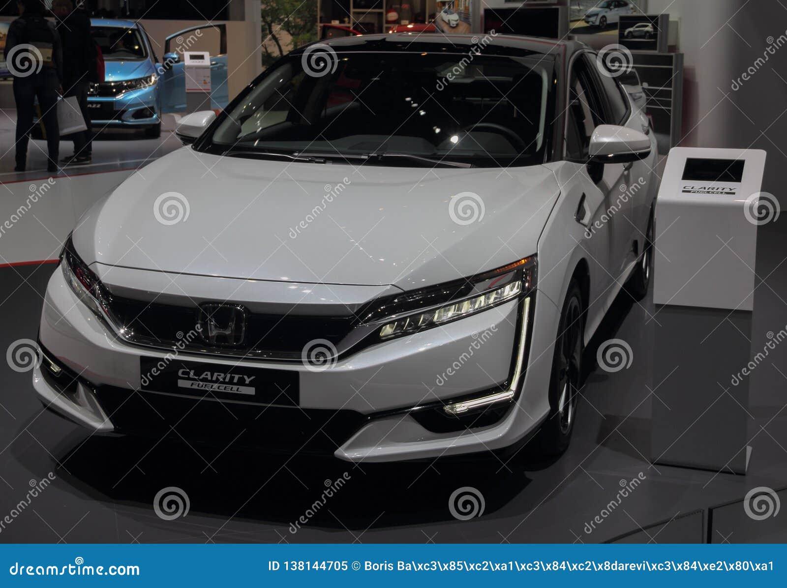 Швейцария; Женева; 10-ое марта 2018; Ясность Honda; 88th международное мотор-шоу в Женеве от восьмого к восемнадцатому из марта 2