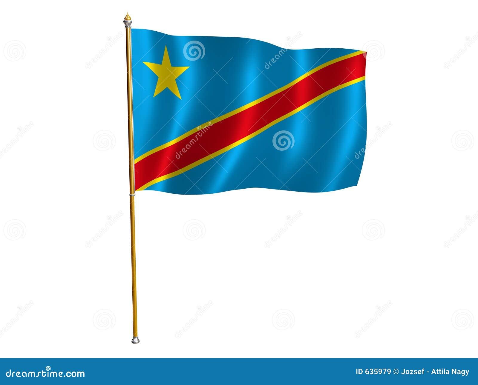 Download шелк республики флага Конго демократический Иллюстрация штока - иллюстрации насчитывающей yellow, национализм: 635979