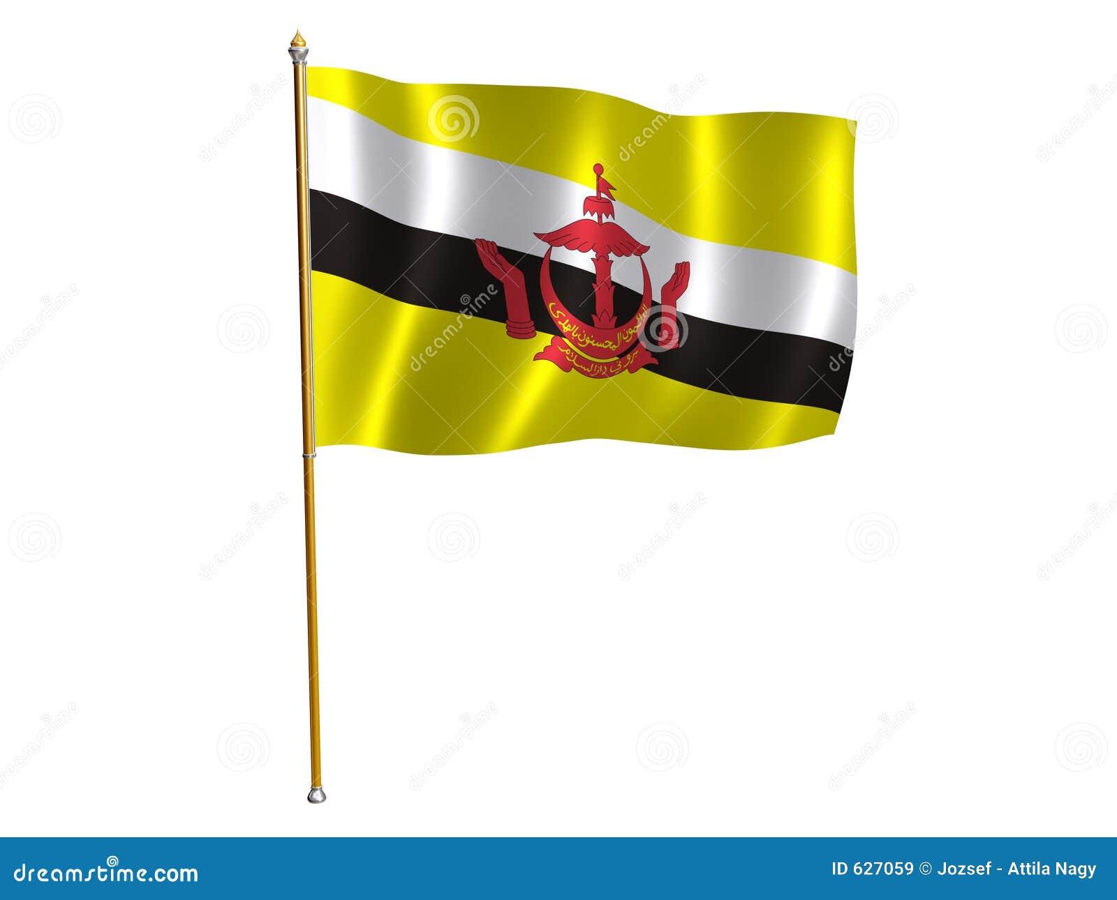 Download шелк флага brunei иллюстрация штока. иллюстрации насчитывающей этническо - 627059