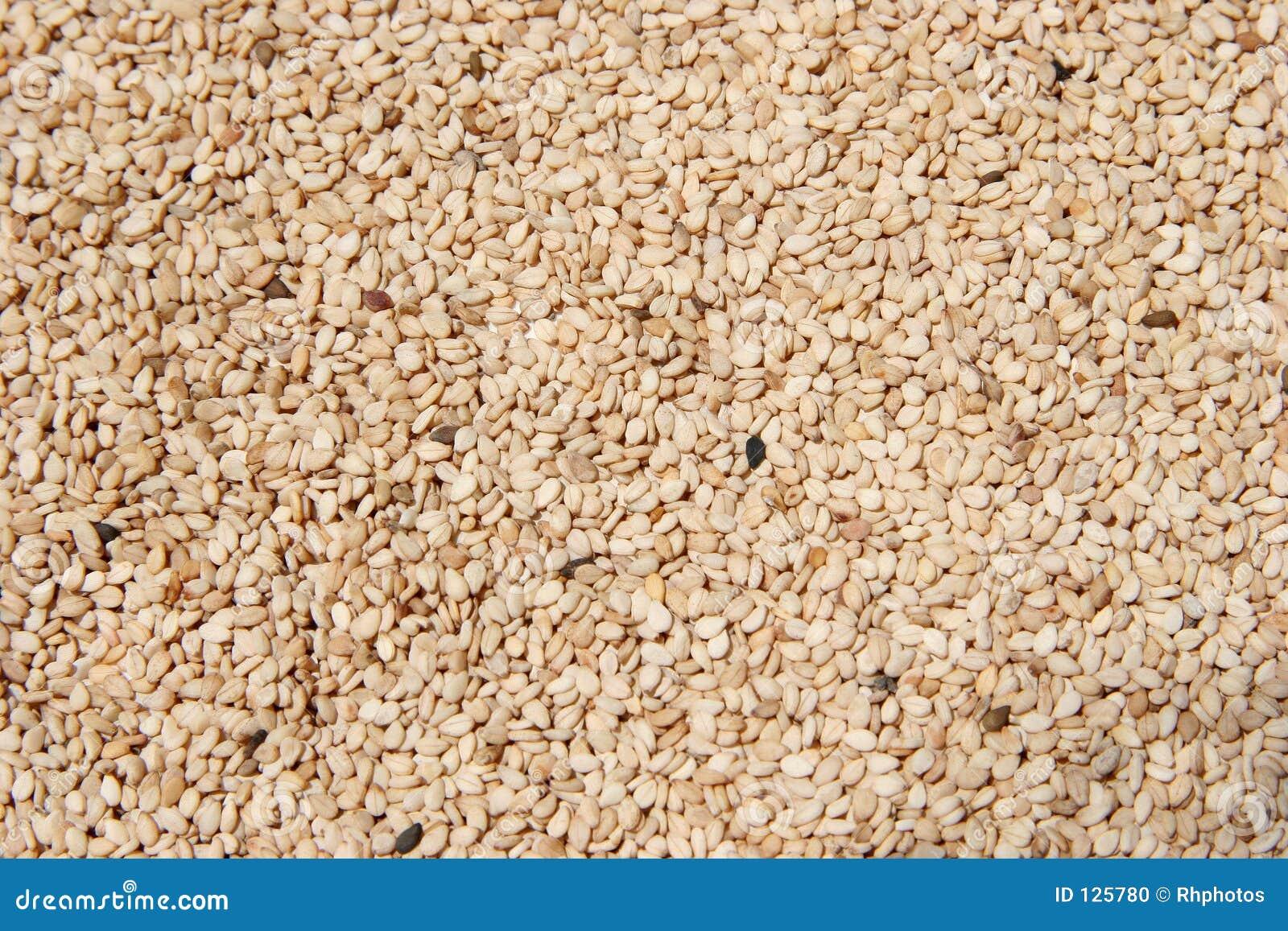 шелушат сырцовый сезам семян