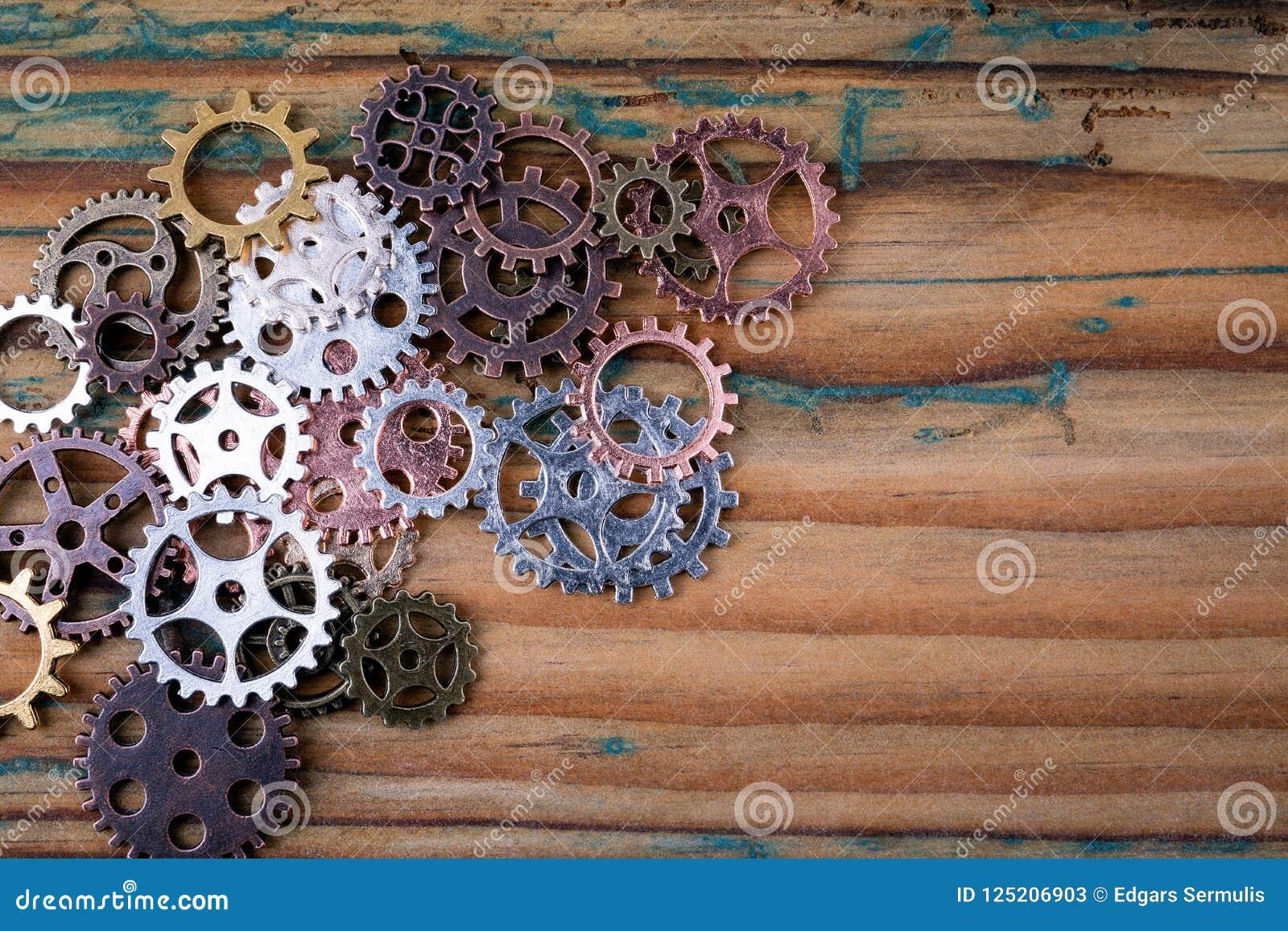 Шестерни в различных размерах и цветах