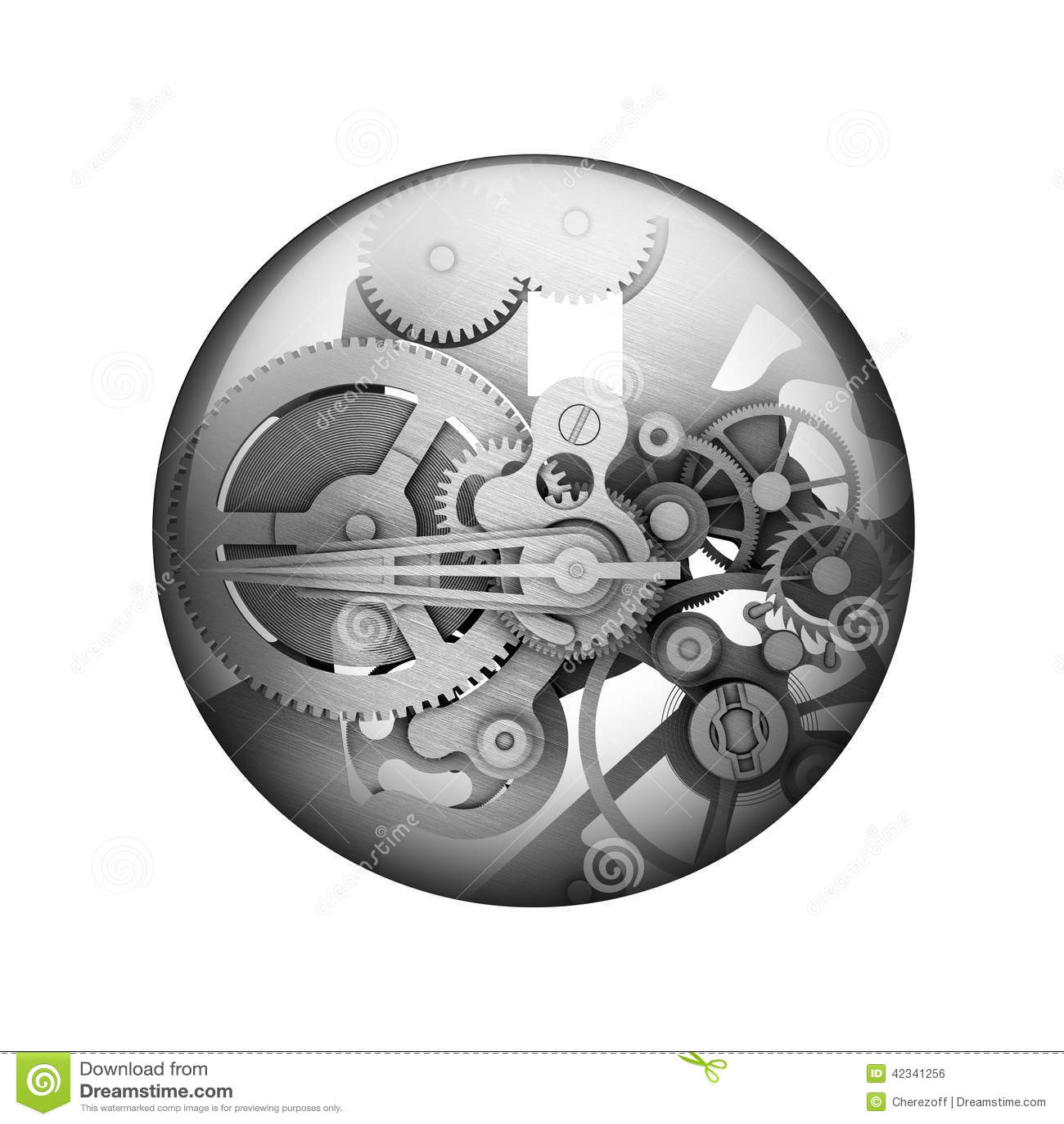 Шестерни металла Сферически лоснистая кнопка