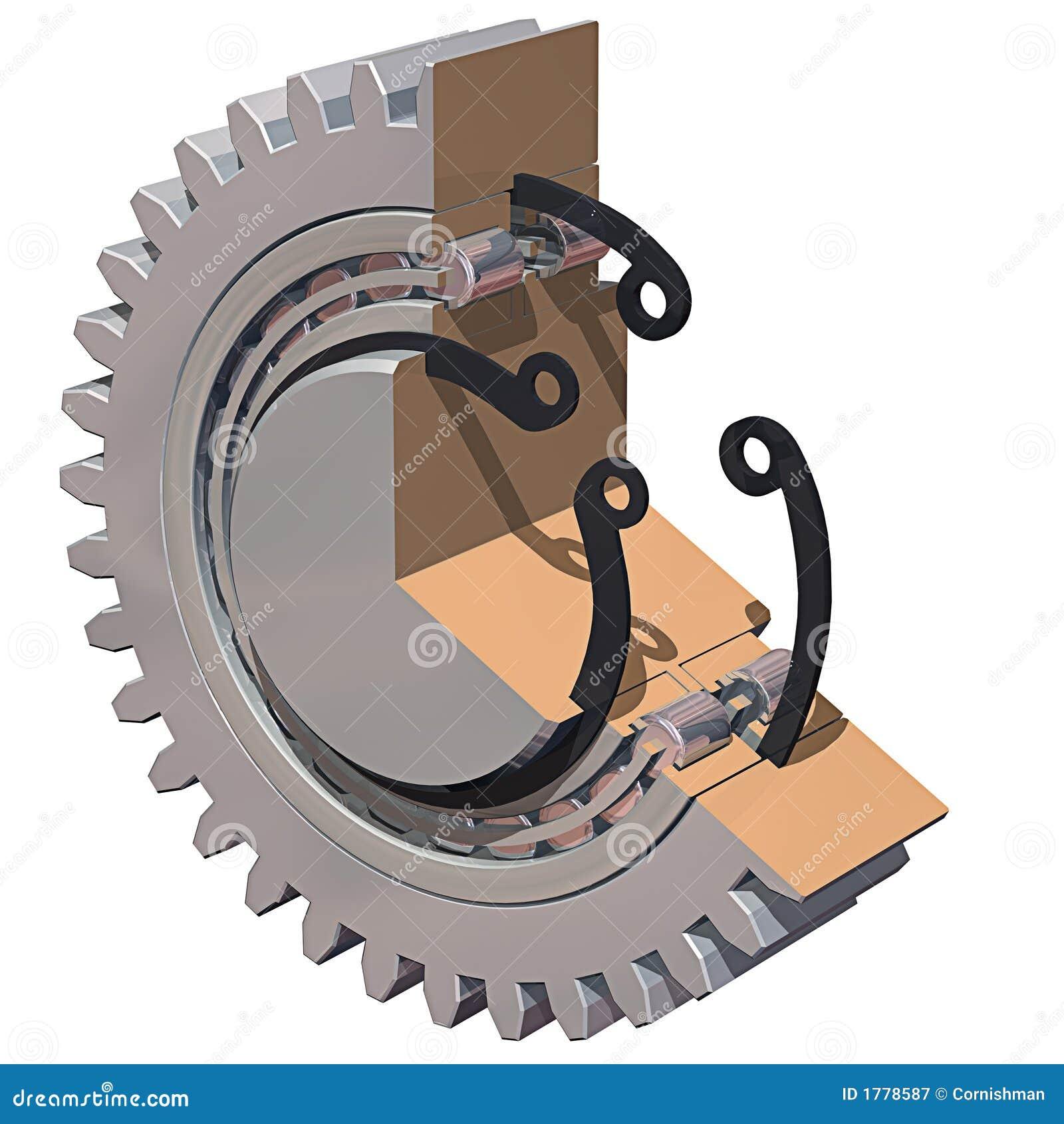 шестерня cutaway подшипника