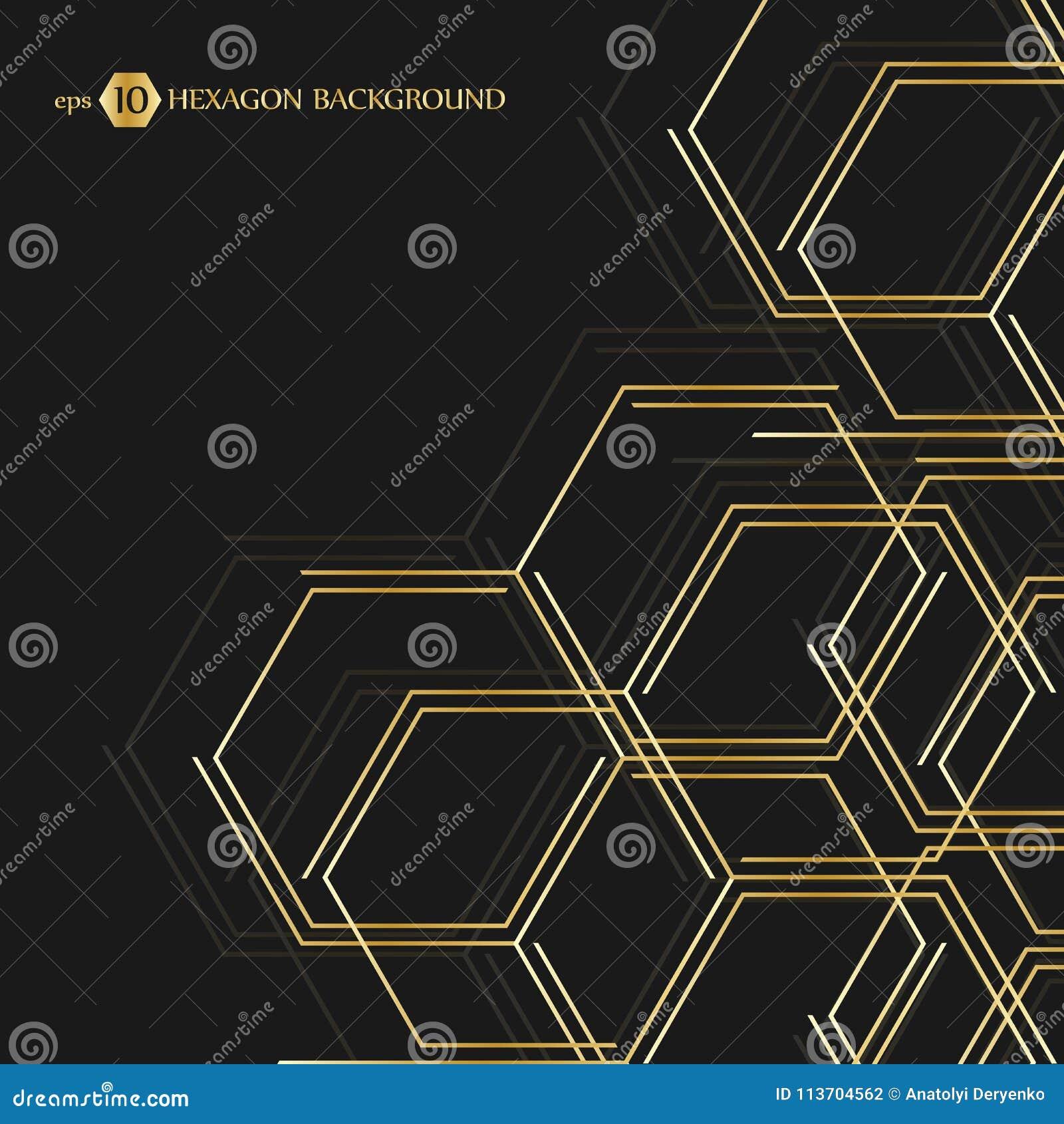 Шестиугольная геометрическая предпосылка Соединение вектора с линиями и социальной сетью Представление дела для вашего дизайна