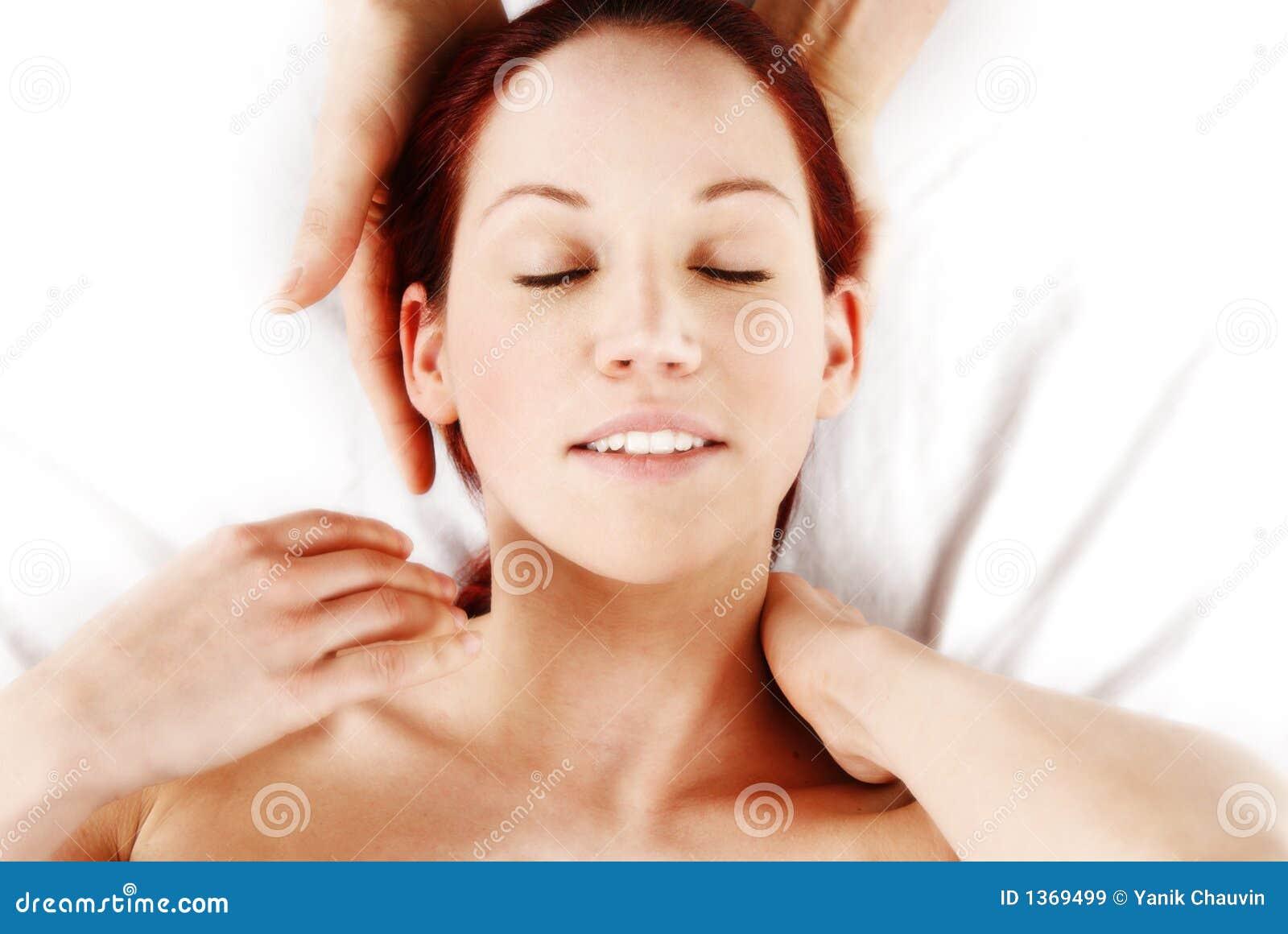 шея массажа