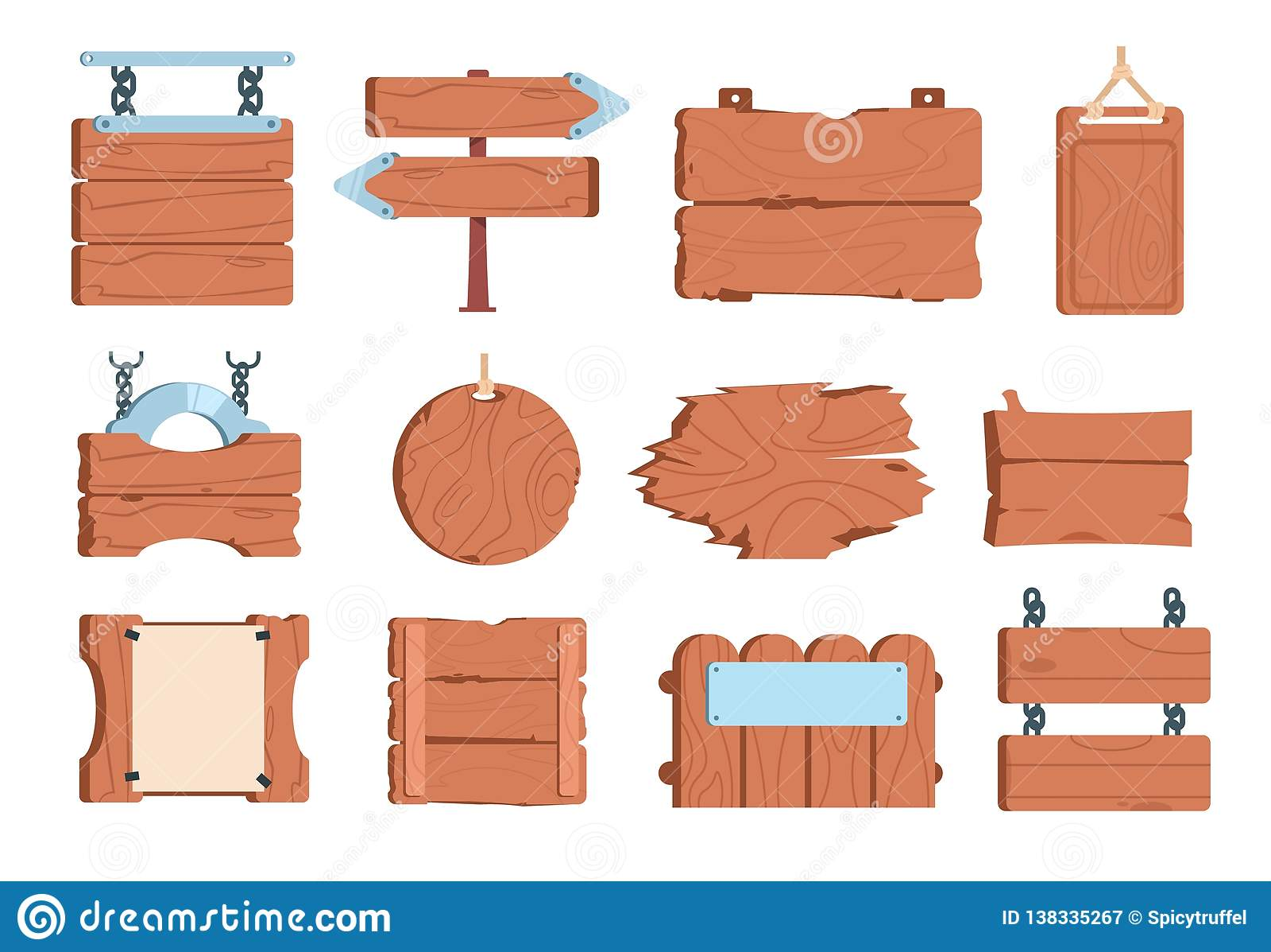 Шильдик древесины шаржа Указатели доск деревянной планки знамени рамки доски знака старые винтажные Игра вектора