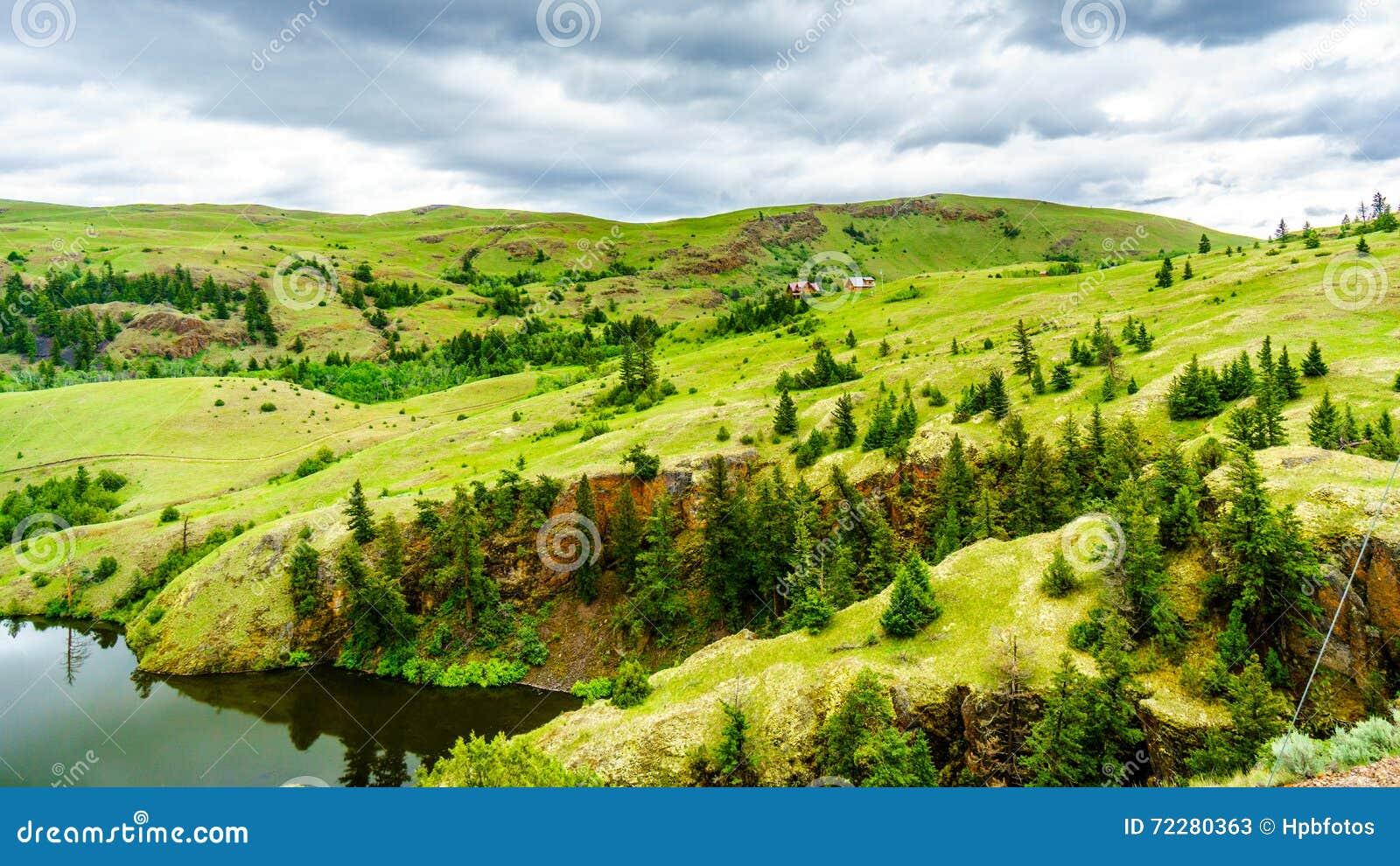 Download Широкие открытые злаковики и Rolling Hills долины Nicola Стоковое Изображение - изображение насчитывающей великобританское, merritt: 72280363