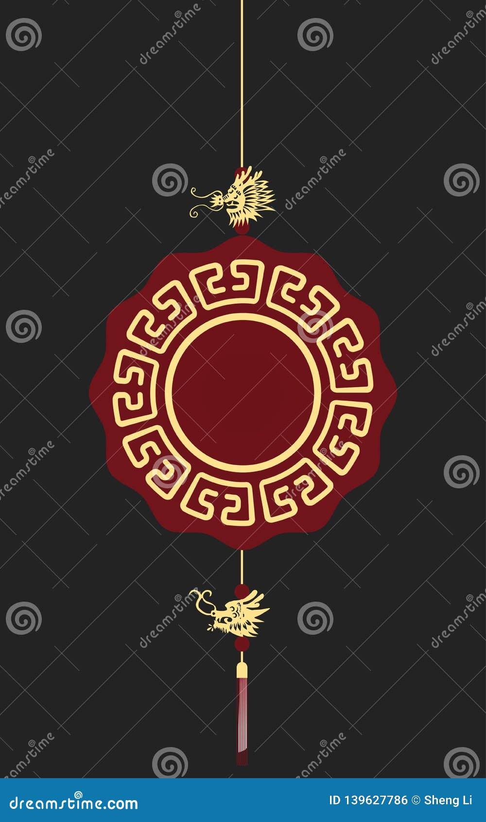Шкентель китайского стиля, аксессуар драконов