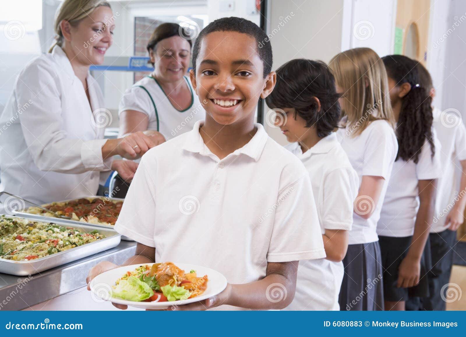 школьник школы кафетерия