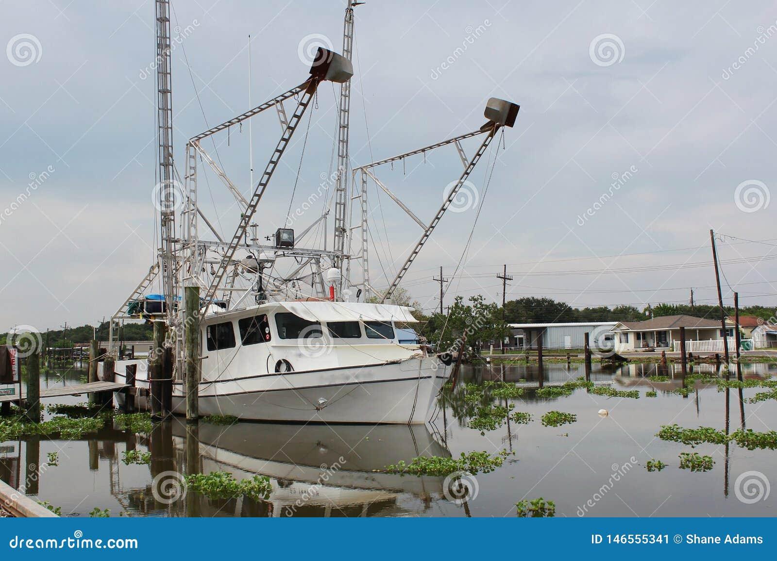 Шлюпка креветки Луизианы