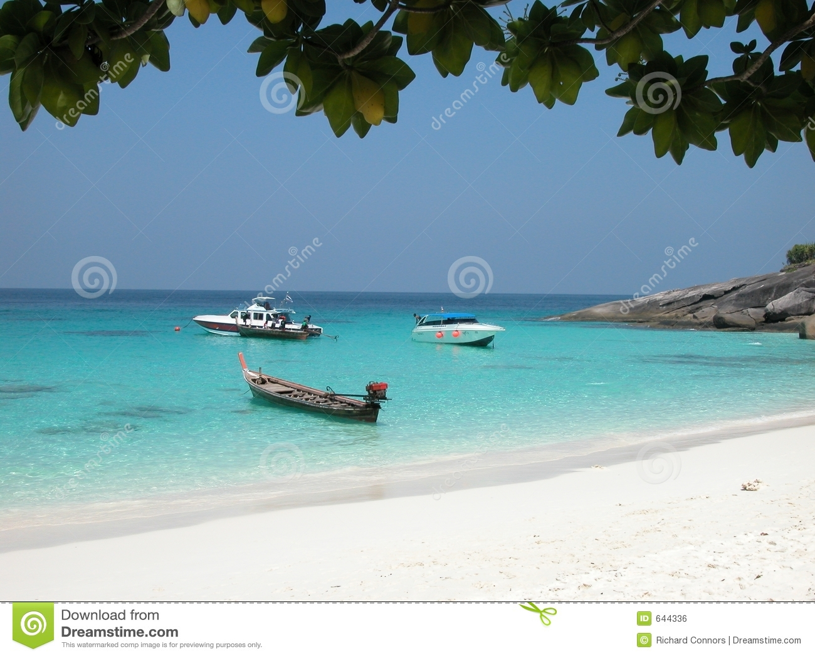 шлюпки Таиланд пляжа причаленный островом similan
