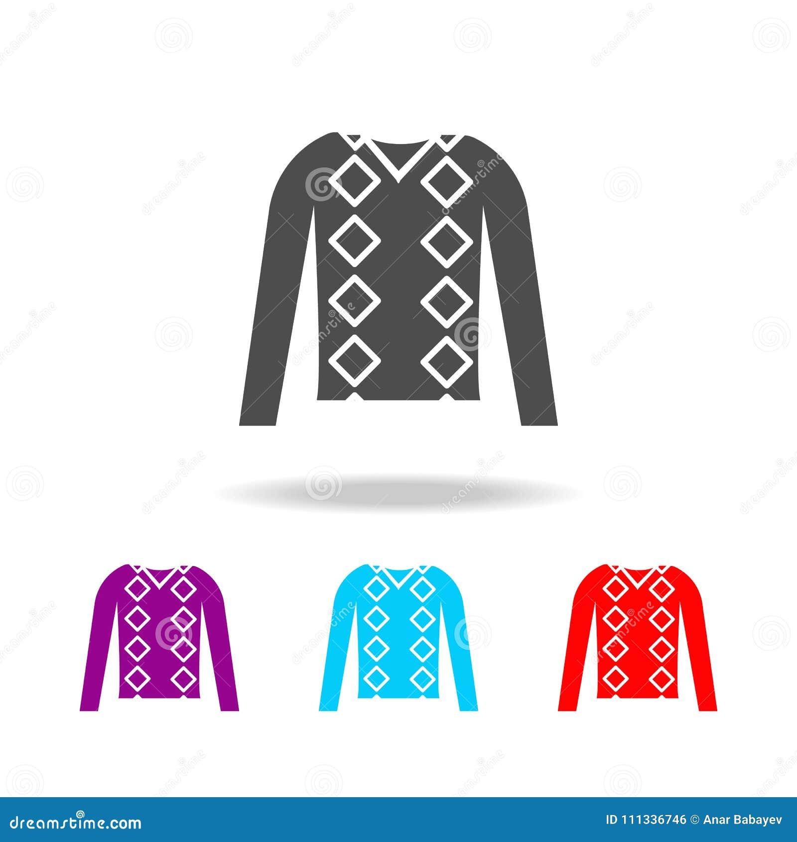 Шлямбур людей одевает значок Элементы одежд в multi покрашенных значках для передвижных apps концепции и сети Значки для дизайна