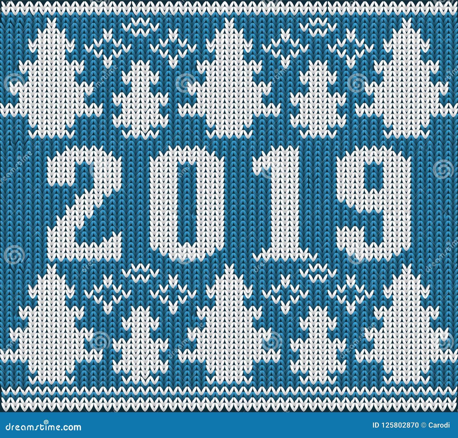 Шлямбур рождества, новый 2019 год связал текстуру, вектор