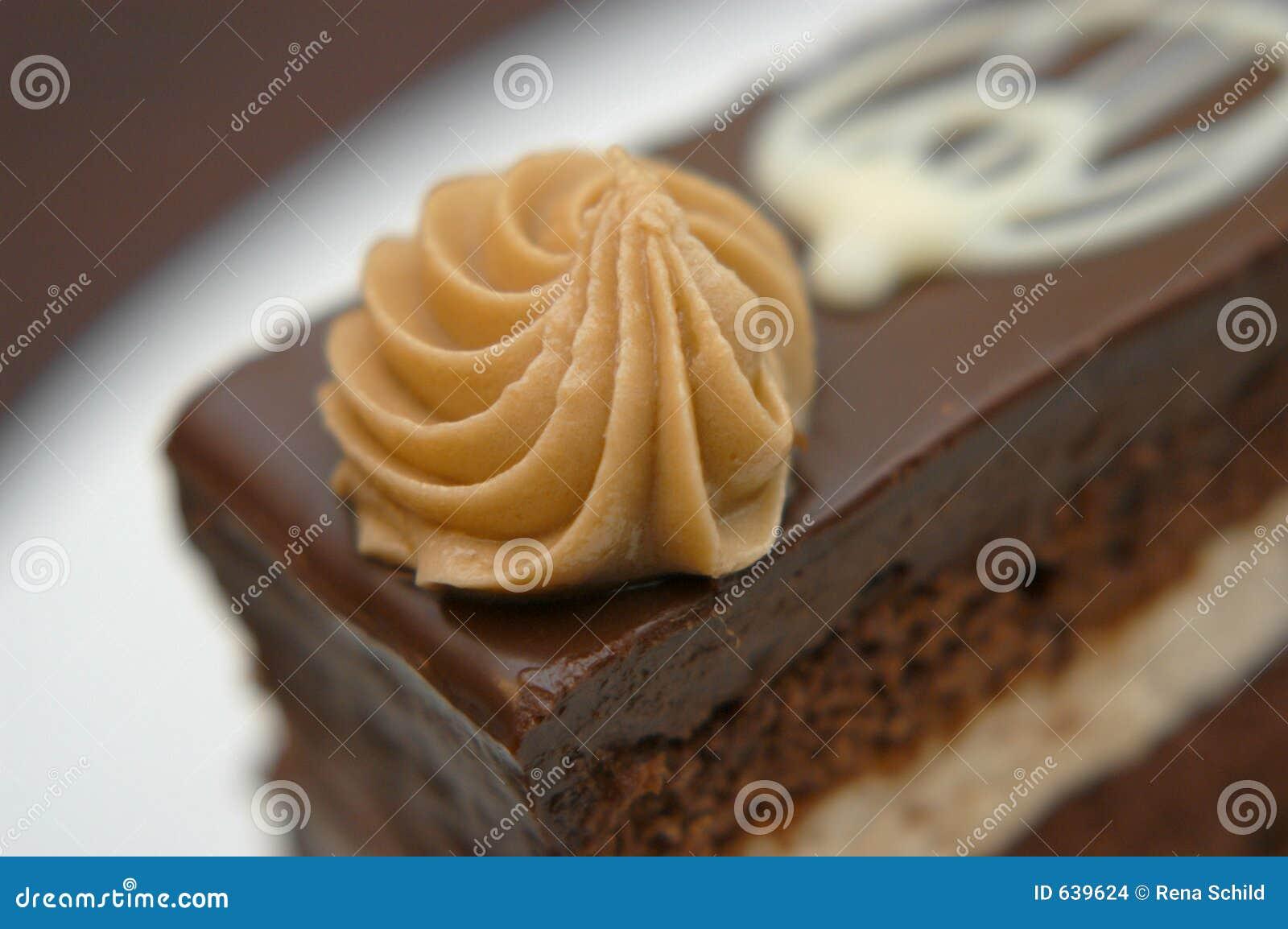 Download шоколад торта стоковое фото. изображение насчитывающей богато - 639624