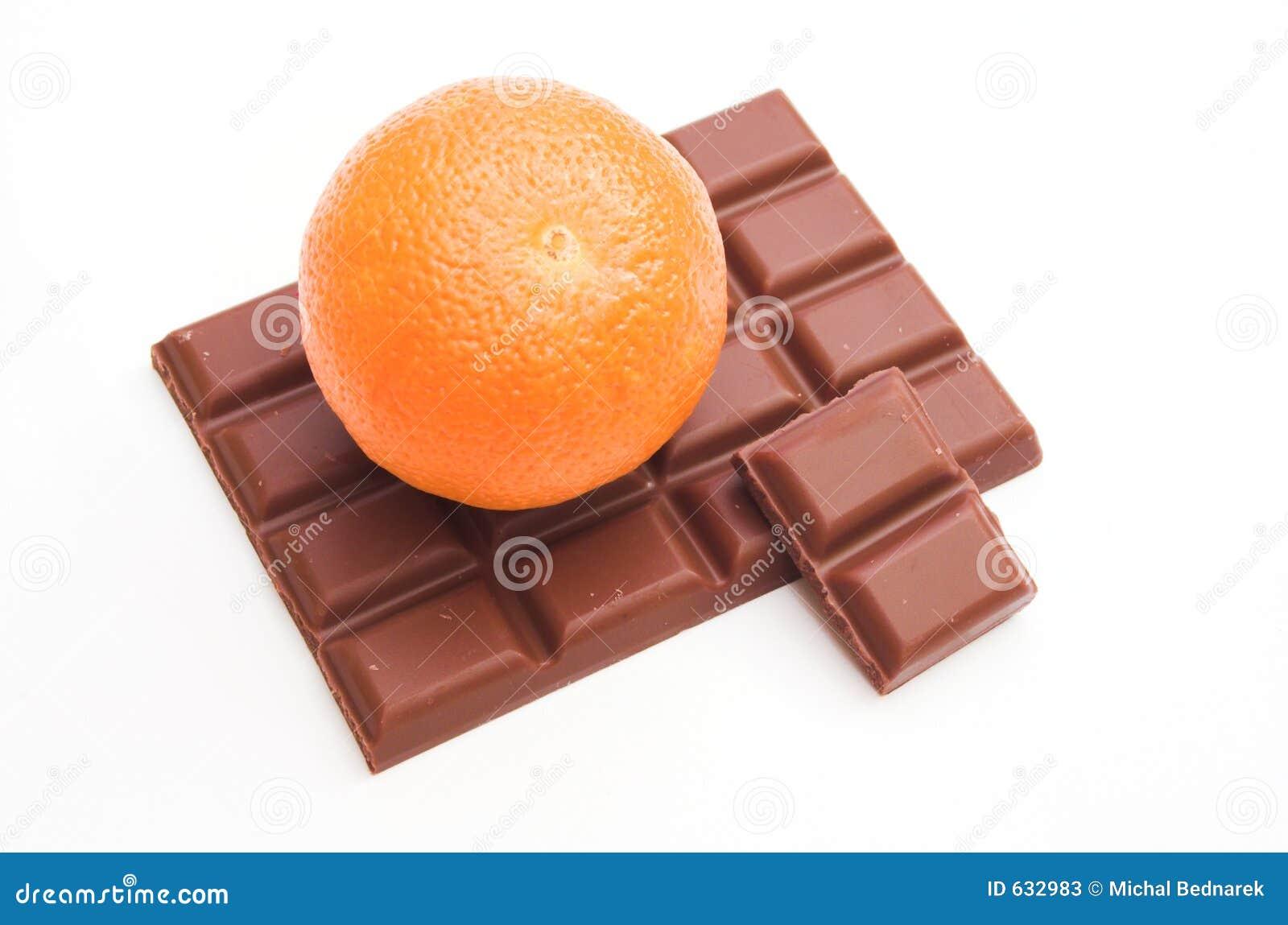 Download шоколад штанги стоковое изображение. изображение насчитывающей померанцово - 632983