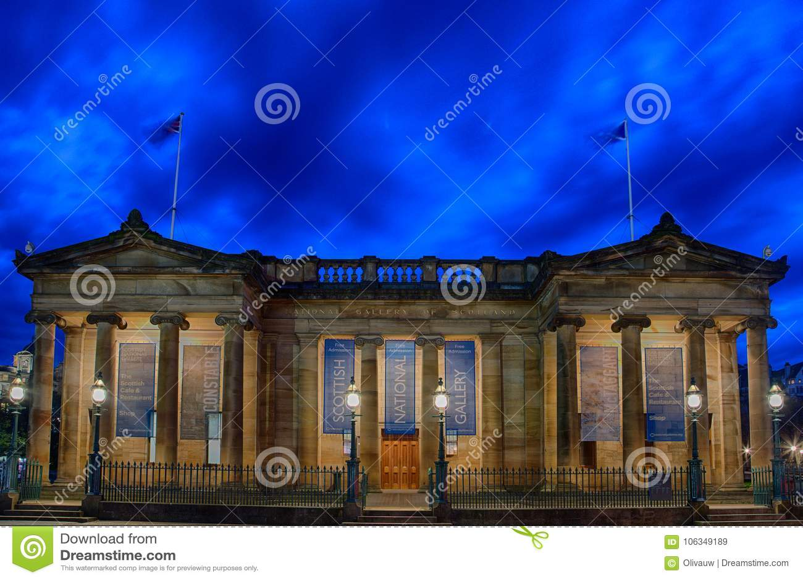 Шотландская национальная галерея в Edinbrugh