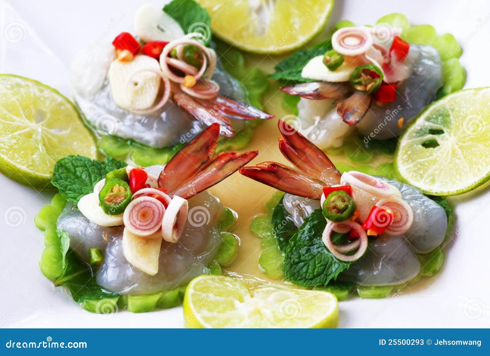 шримс моря соуса еды рыб тайский