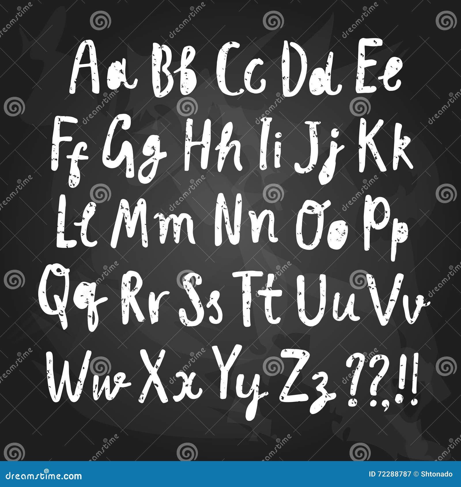 Download Шрифт вектора щетки нарисованный рукой текстурированный Иллюстрация вектора - иллюстрации насчитывающей рука, пары: 72288787