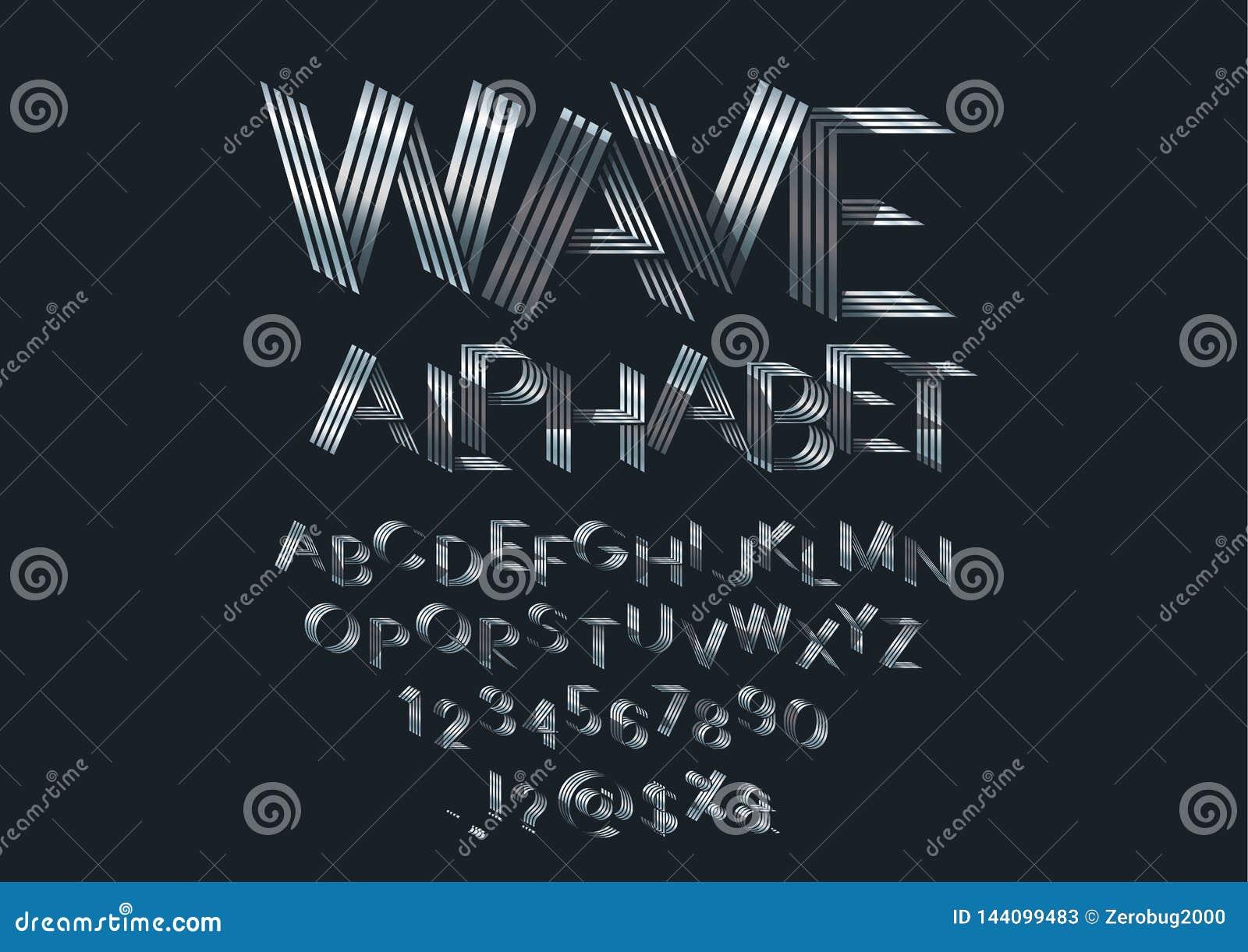 Шрифт волны