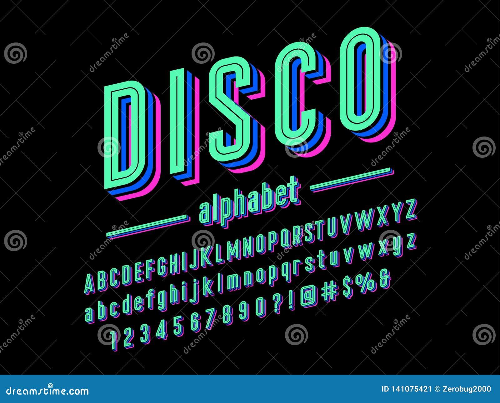 шрифт диско