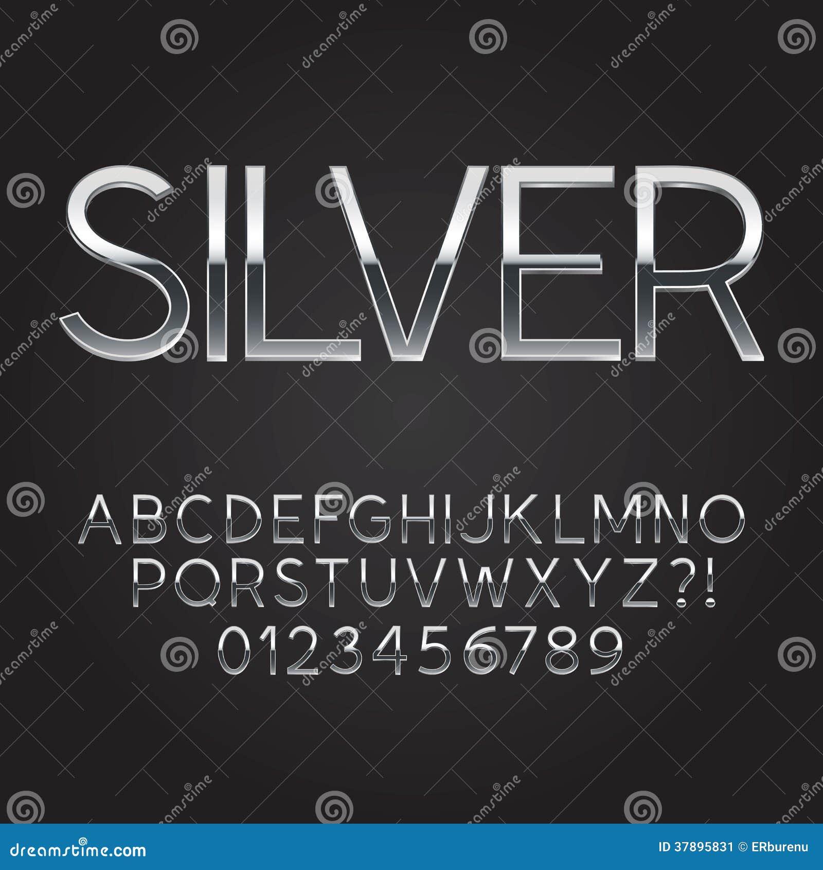 Шрифт и номера тонкой мычки стальной