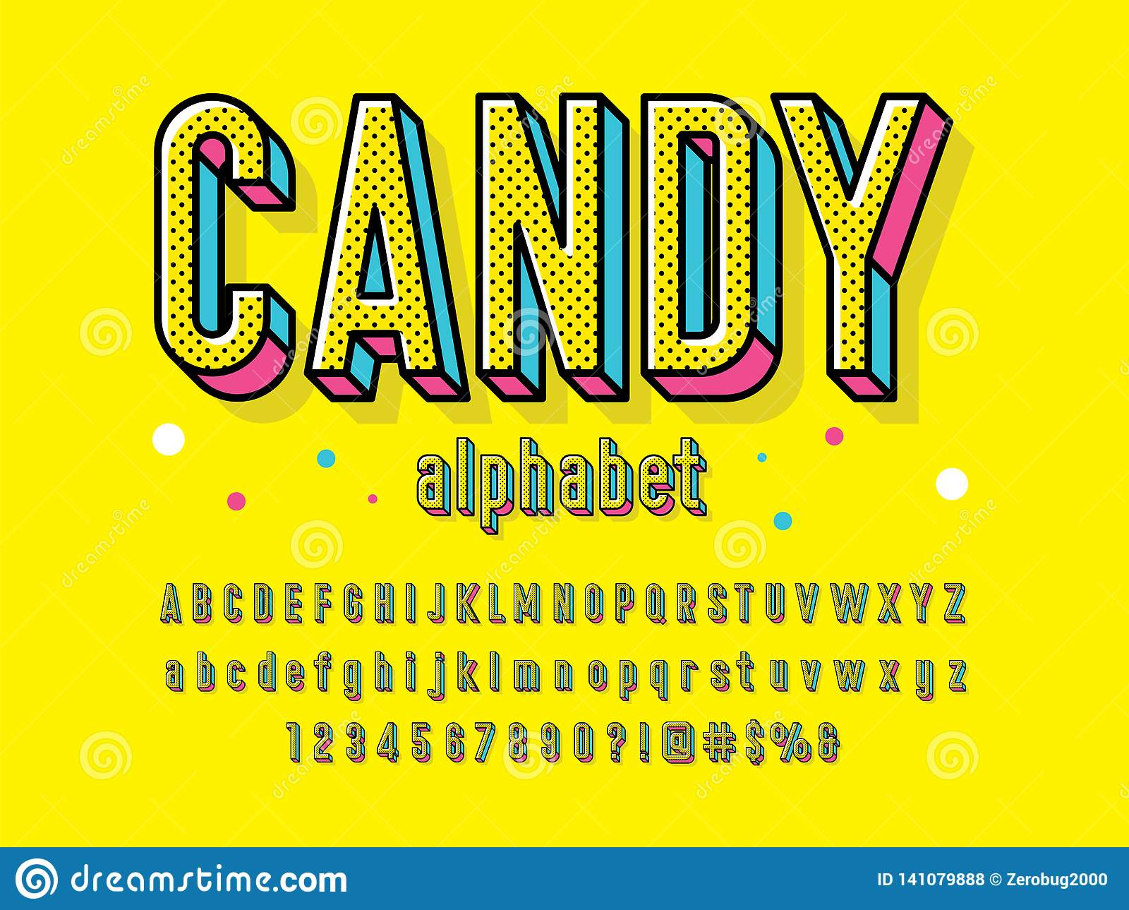Шрифт конфеты