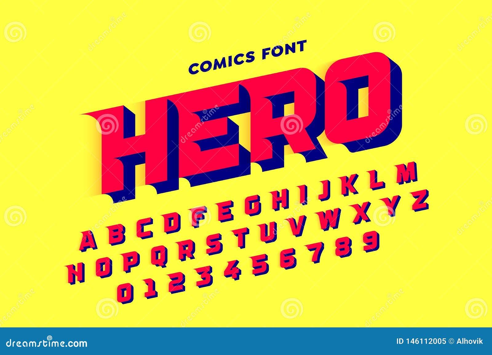 Шрифт стиля комиксов