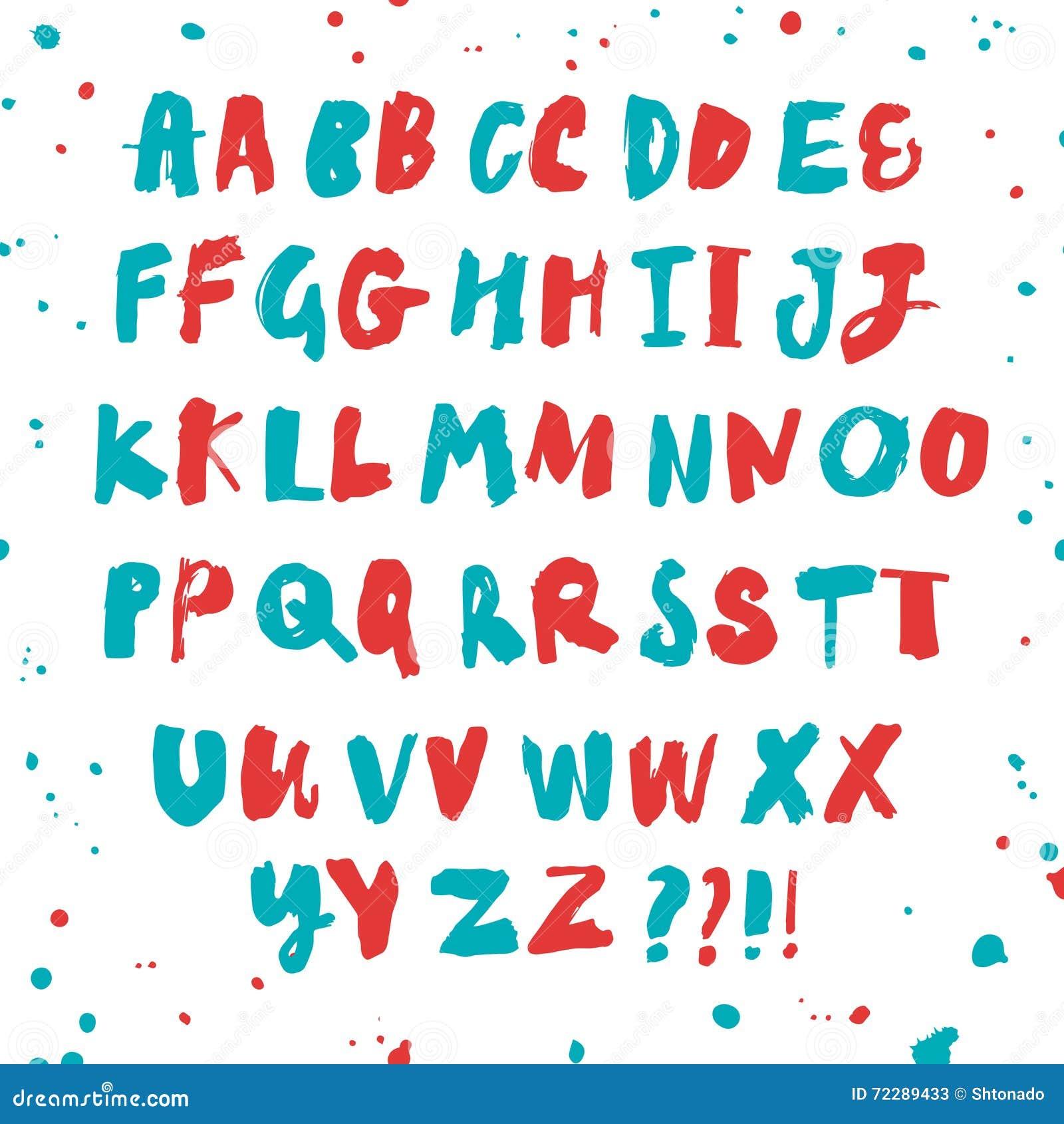 Download Шрифт щетки нарисованный рукой текстурированный Иллюстрация штока - иллюстрации насчитывающей чертеж, пер: 72289433