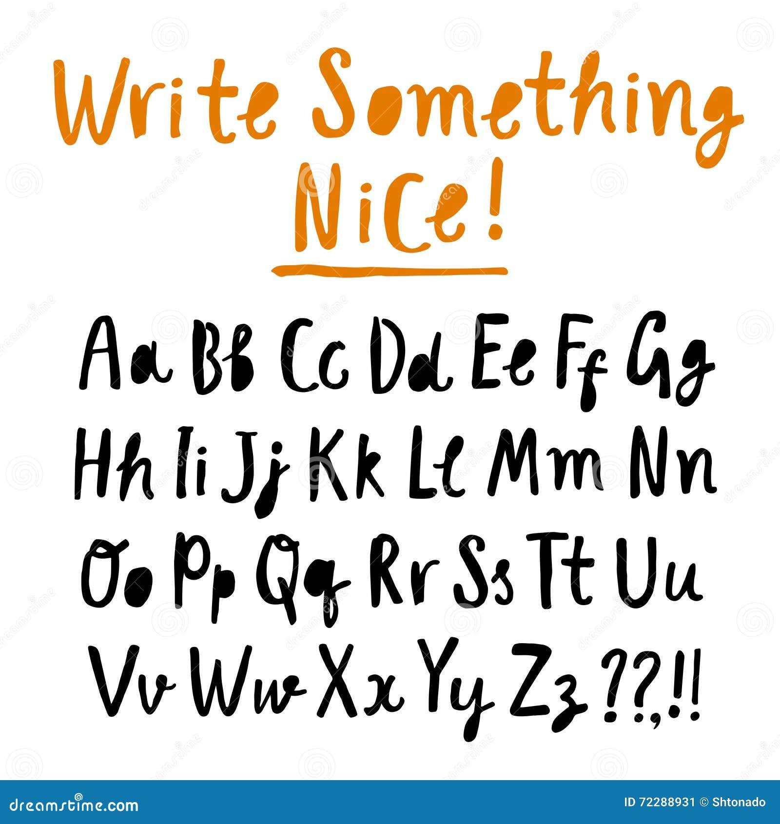 Download Шрифт щетки нарисованный рукой Иллюстрация штока - иллюстрации насчитывающей элемент, иллюстрация: 72288931